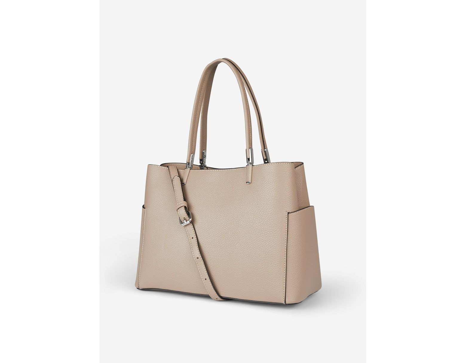 40fee9721 Dorothy Perkins Nude Pocket Side Tote Bag in White - Lyst