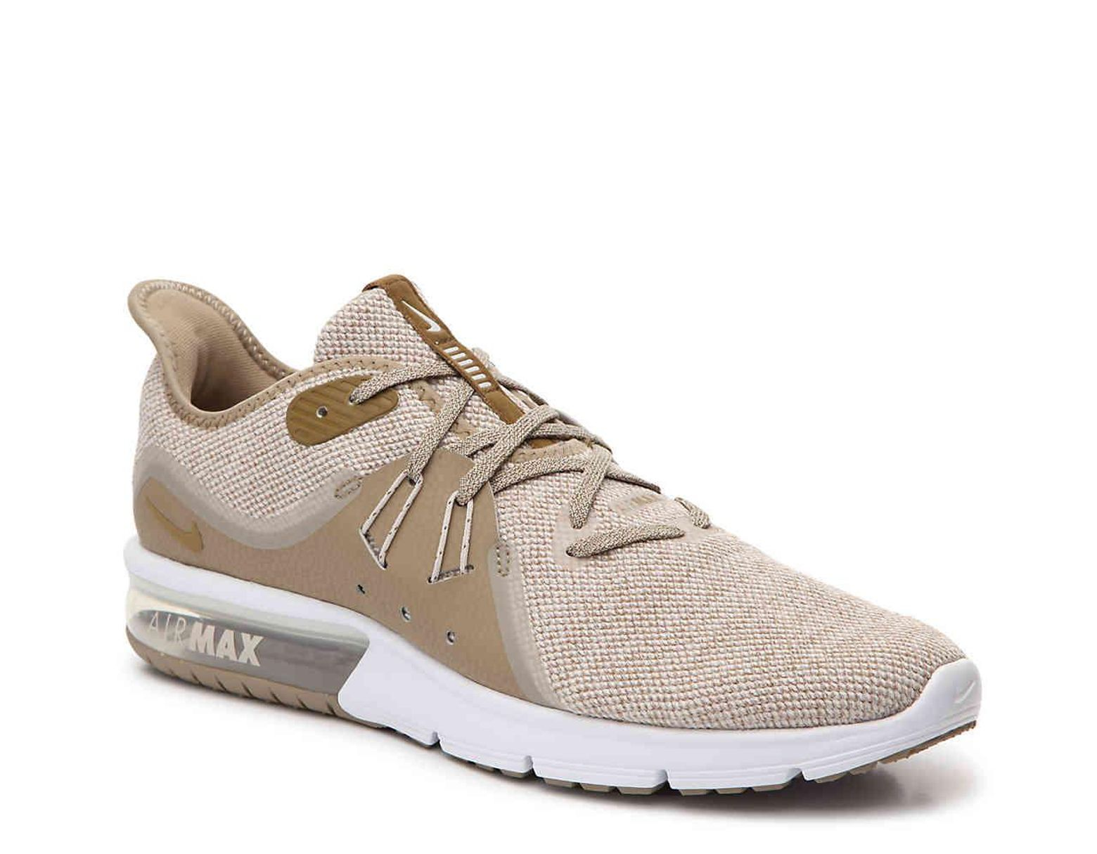 e01e7bc8e31d7 Nike Air Max Sequent 3 Performance Running Shoe in Natural for Men - Lyst