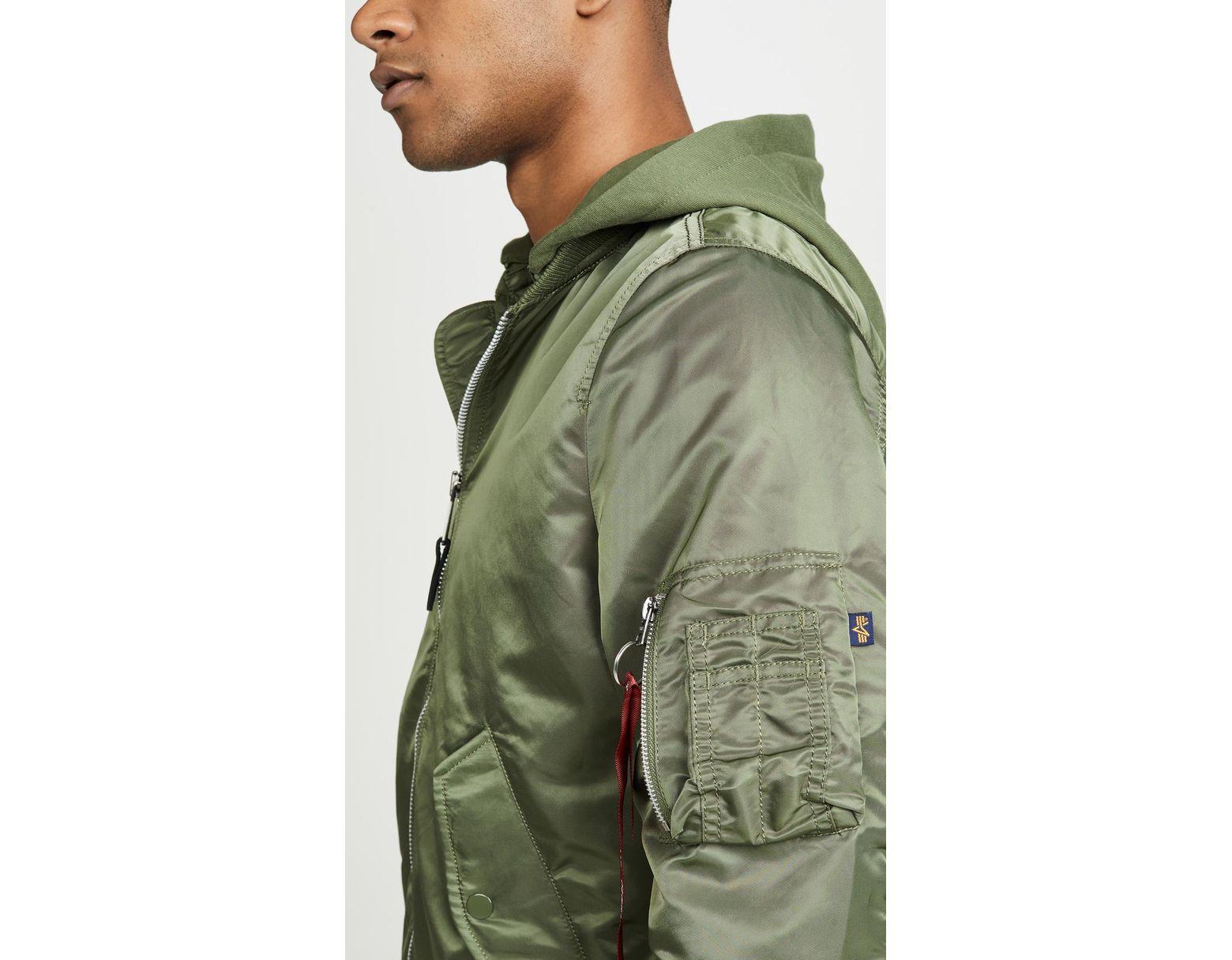 e2622ba2d7f9d Alpha Industries L-2b Natus Coat in Green for Men - Lyst