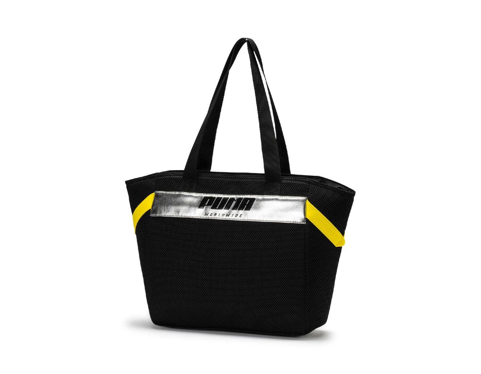 1f0af53ce7 PUMA Prime Street Large Shopper Bag in Black - Lyst