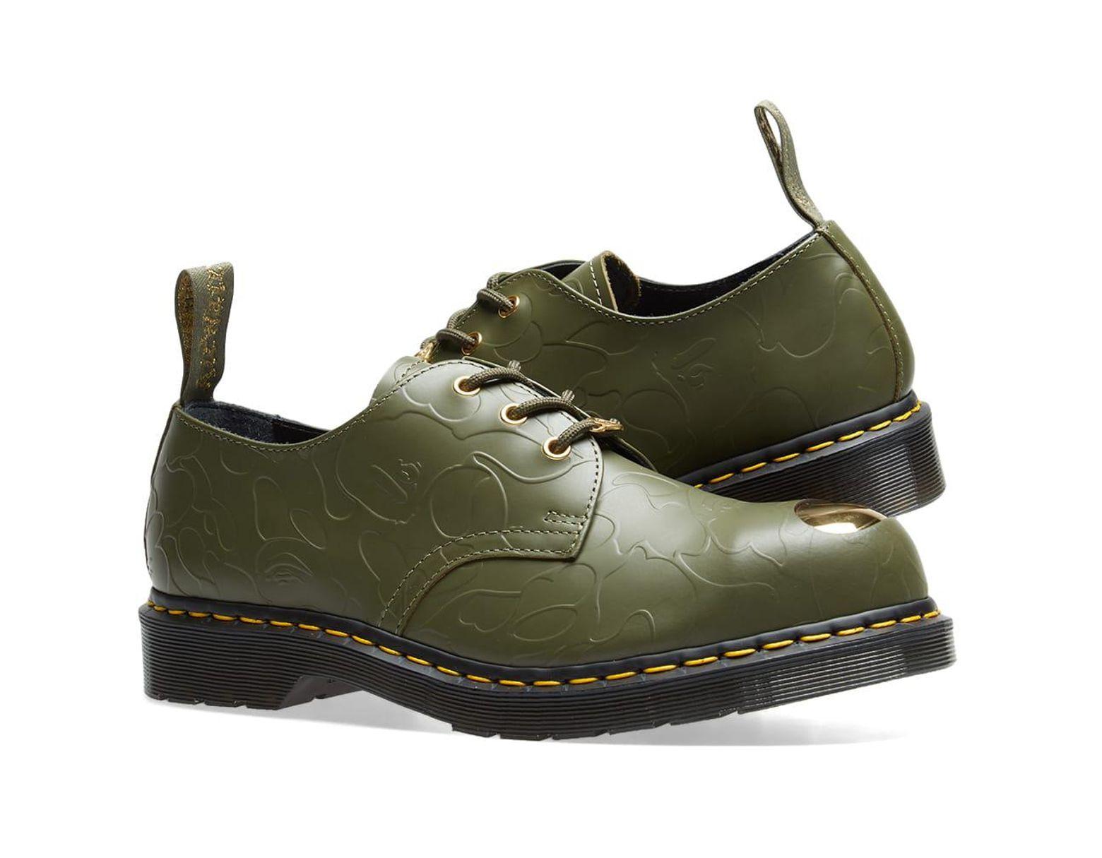 0b92ca74bb Dr. Martens Dr. Martens X Bape Petri Shoe in Green for Men - Lyst