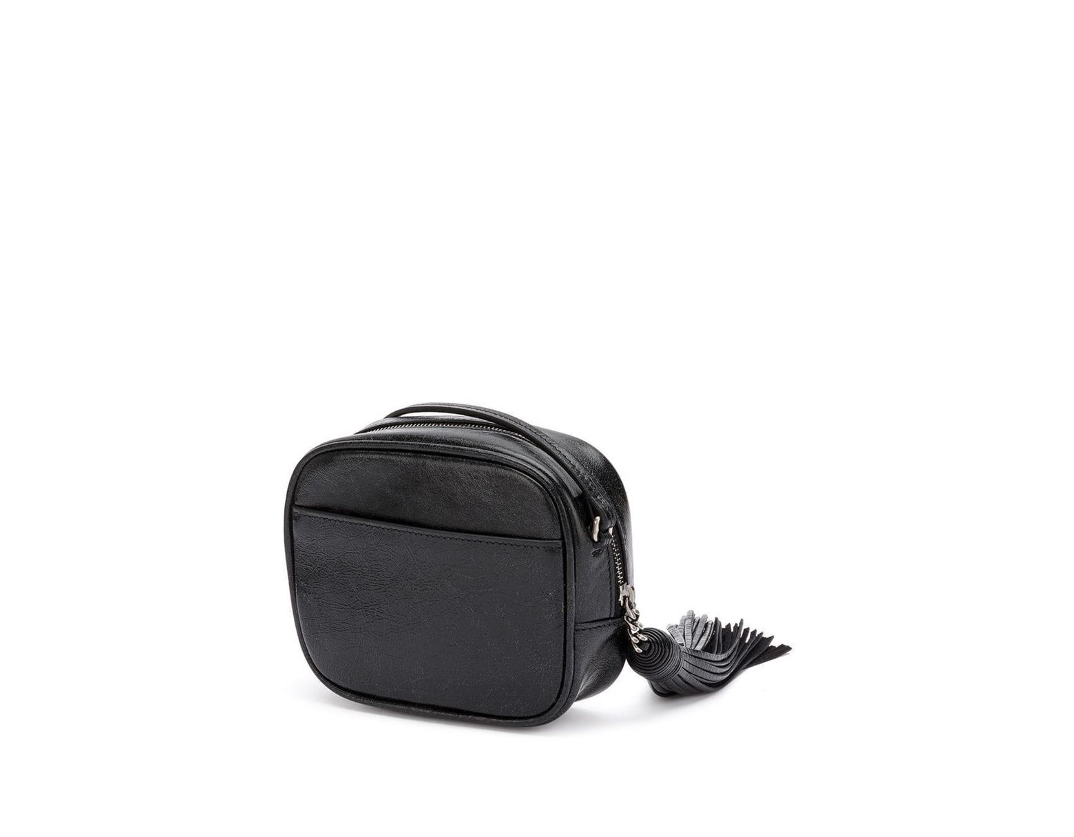 563dbd0efc7 Saint Laurent Blogger Star Crossbody Bag in Black - Lyst