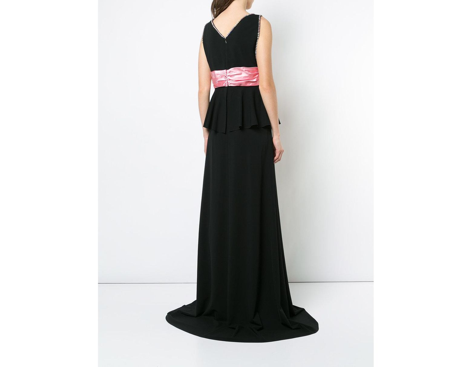 41ca378a7 Gucci Bow Detail Evening Dress in Black - Lyst