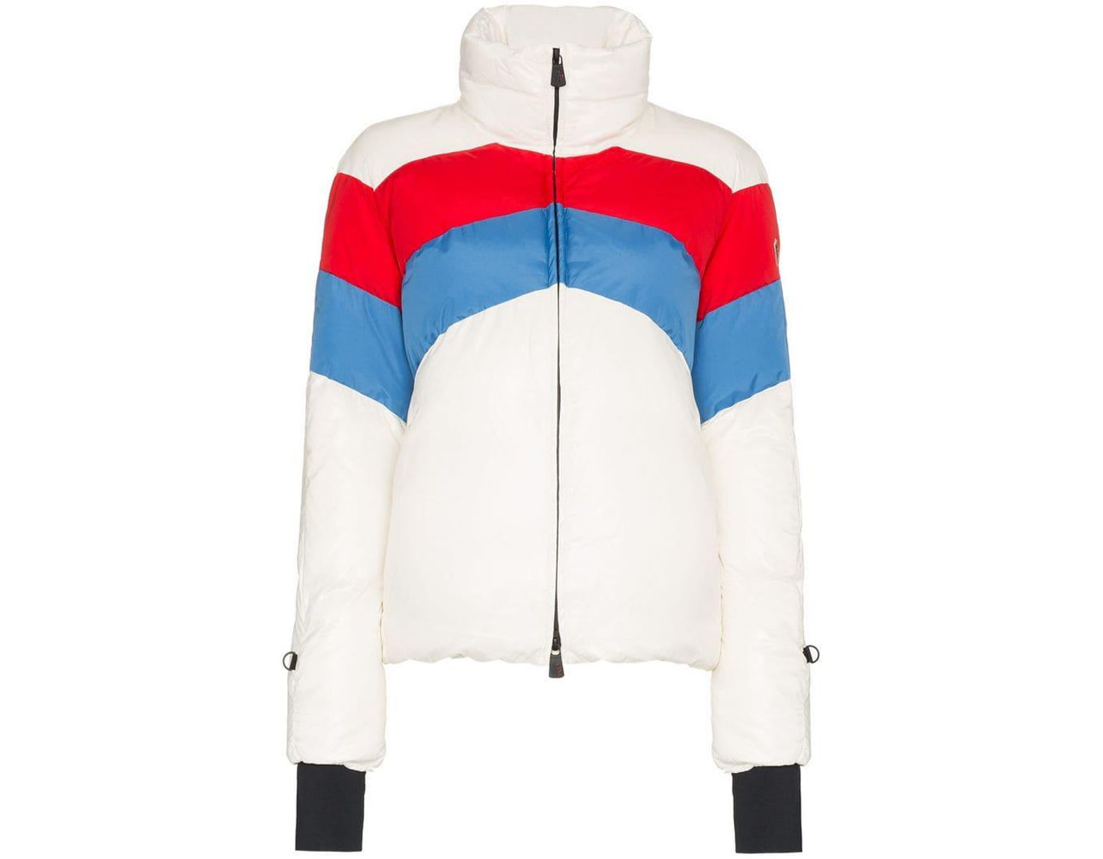 66e3d6331 Moncler Grenoble Lamar Striped Padded Jacket in White - Save 30% - Lyst