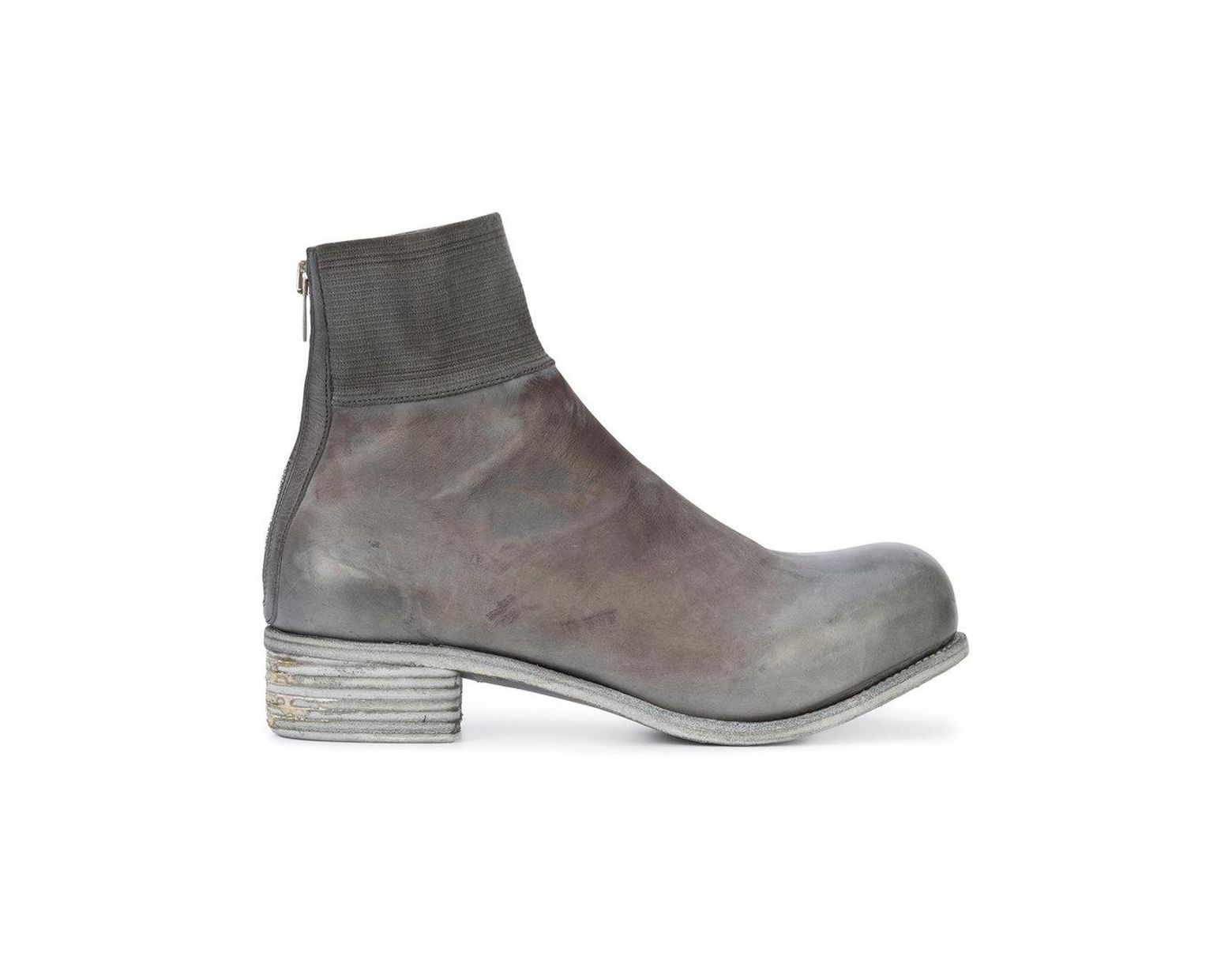 f6060f533761 Lyst - A Diciannoveventitre Kangaroo Knitted Top Band Boots in Gray for Men