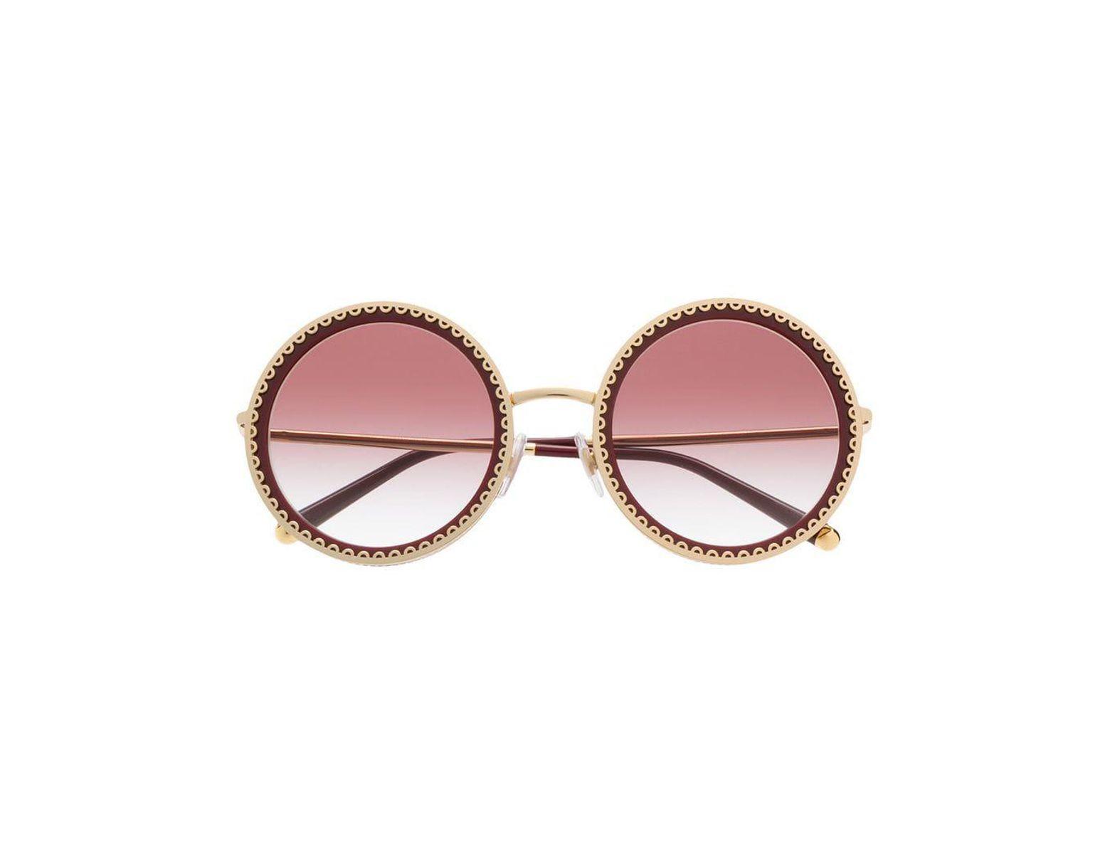 7b8306feffd8 Dolce & Gabbana Cuore Sacro Sunglasses in Red - Lyst