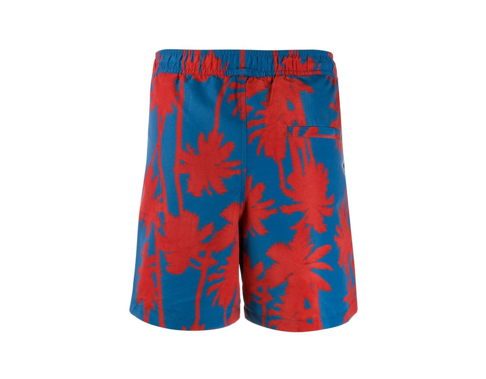 8417586bbe J.Lindeberg Printed Banks Swimming Shorts in Blue for Men - Lyst