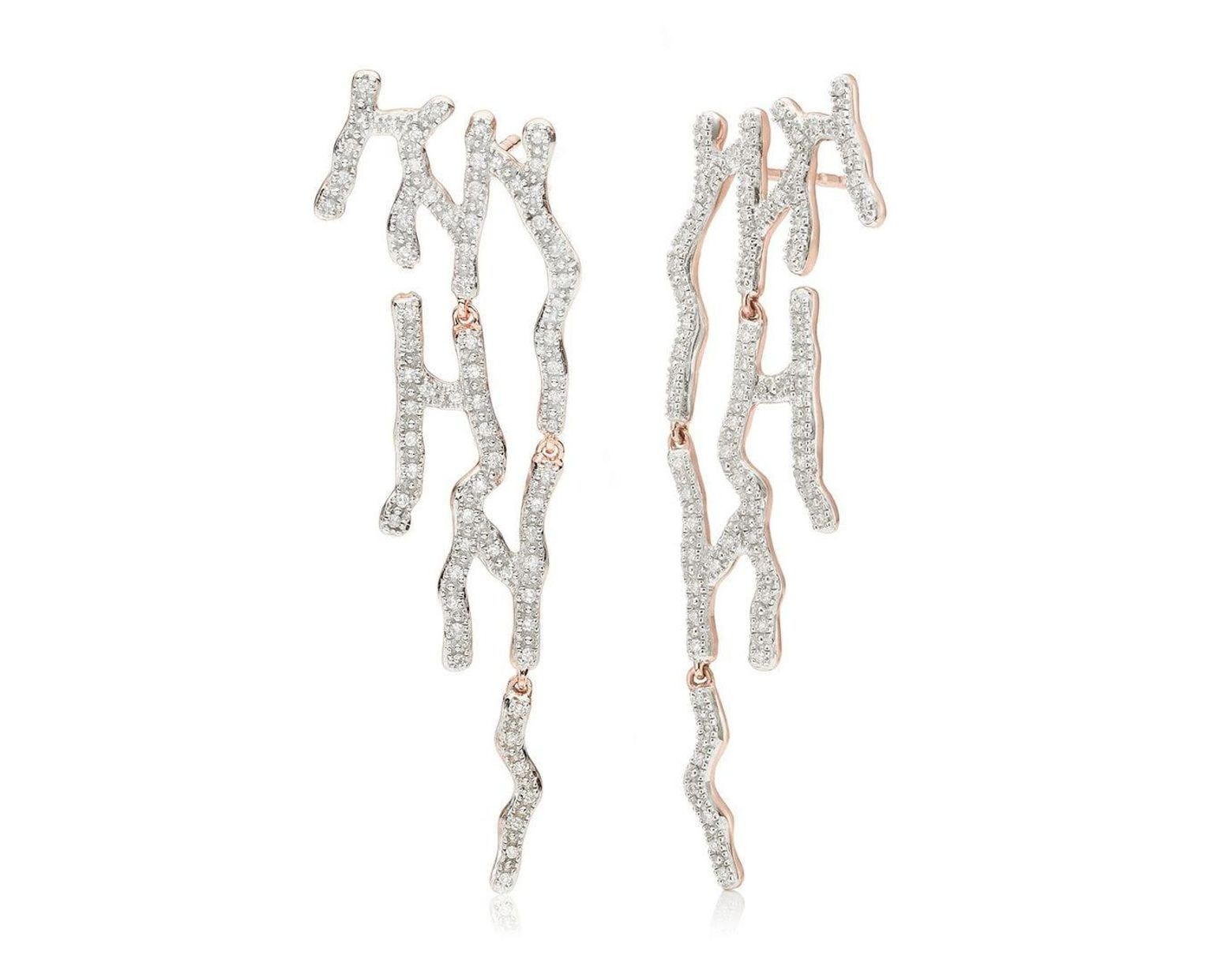ce7874f088bfc Monica Vinader Rp Riva Waterfall Cocktail Diamond Earrings in ...