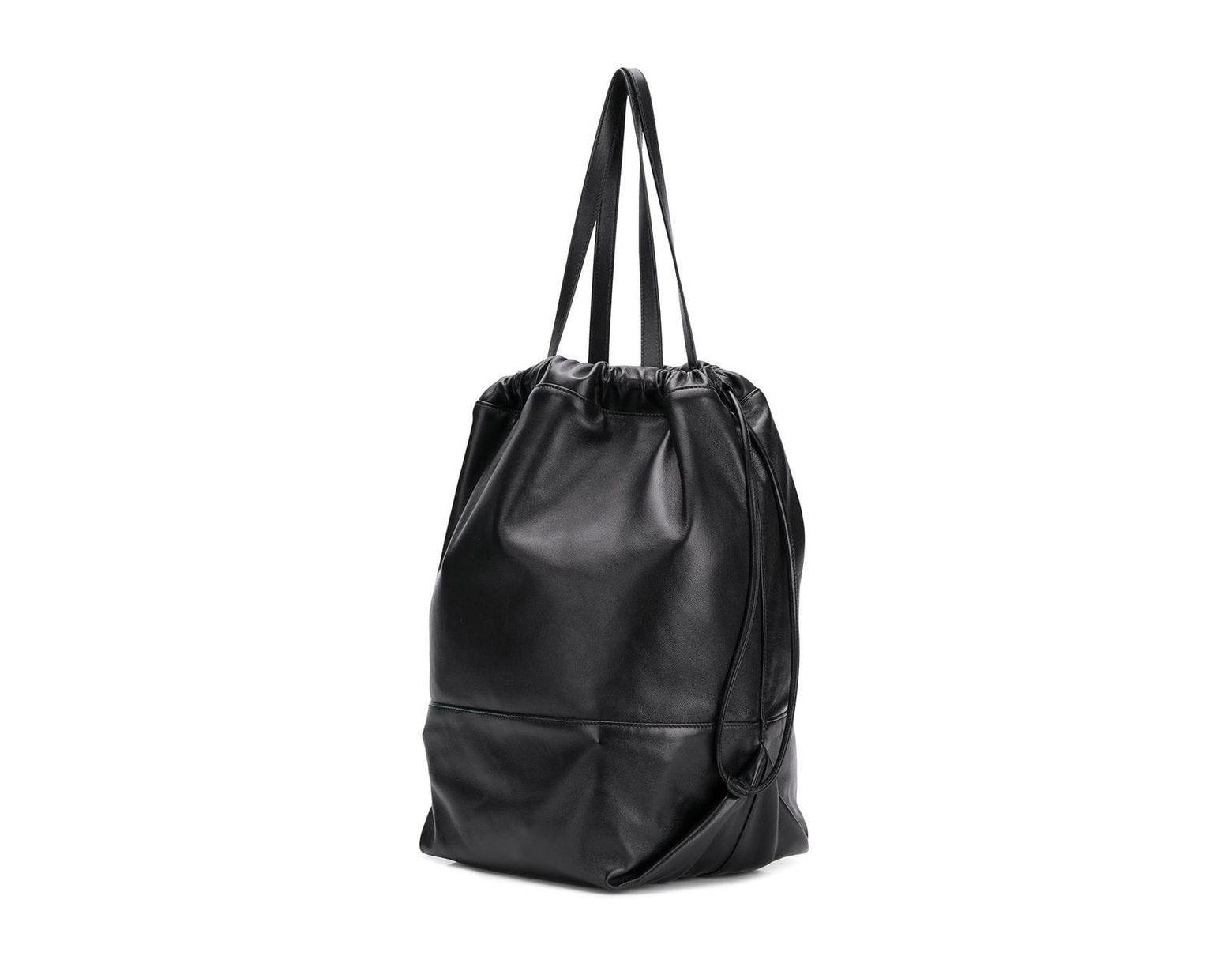 0b9ce00eb35 Saint Laurent Teddy Drawstring Bag in Black - Lyst