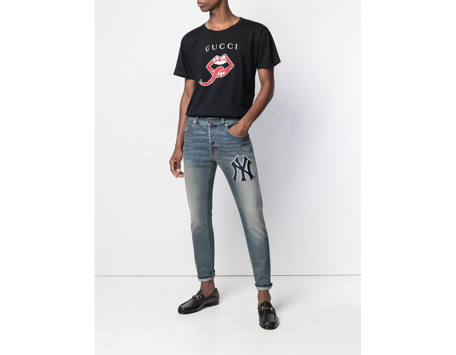 cccbe9c69b1 Lyst - Gucci Mouth And Tongue Print T-shirt in Black for Men