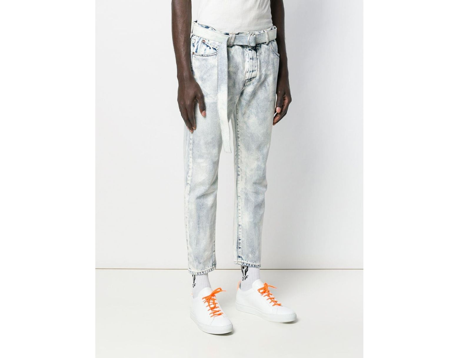 29cc9a89 Off-White c/o Virgil Abloh Slim-fit Drop-crotch Jeans in Blue for Men - Lyst