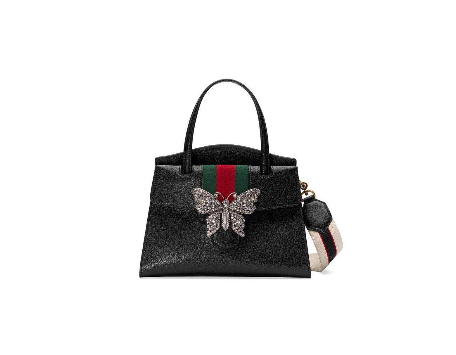 feb2259dab21 Gucci Totem Medium Top Handle Bag in Black - Lyst