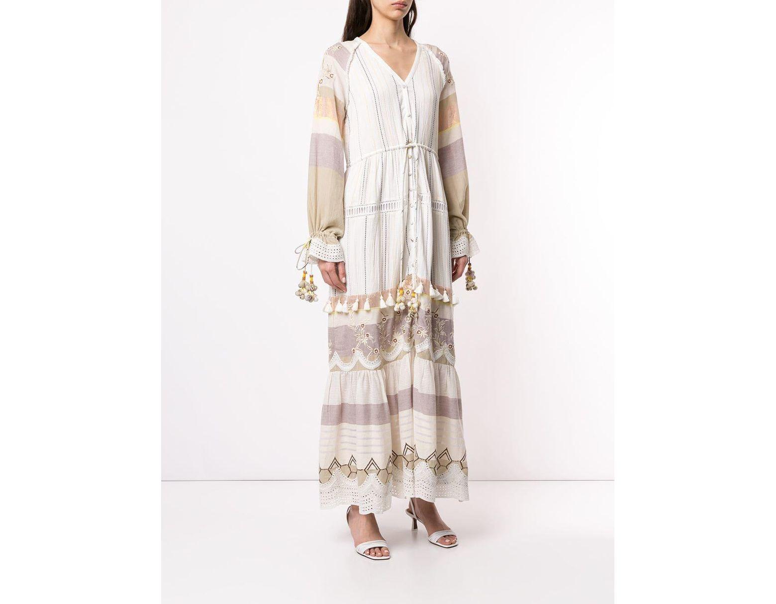 64f56383d4 Hemant   Nandita Tassel Embroidered Maxi Dress in Yellow - Lyst