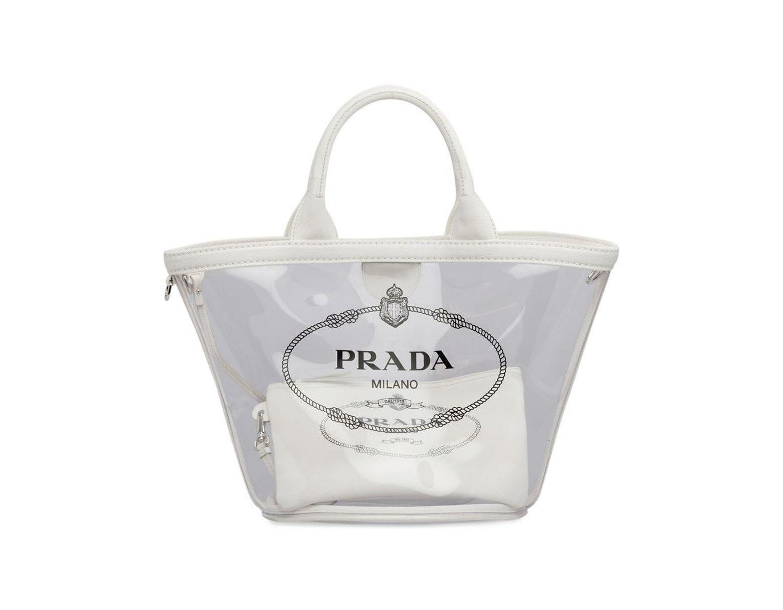 a7e187105a68 Lyst - Prada Transparent Handbag in White - Save 10%