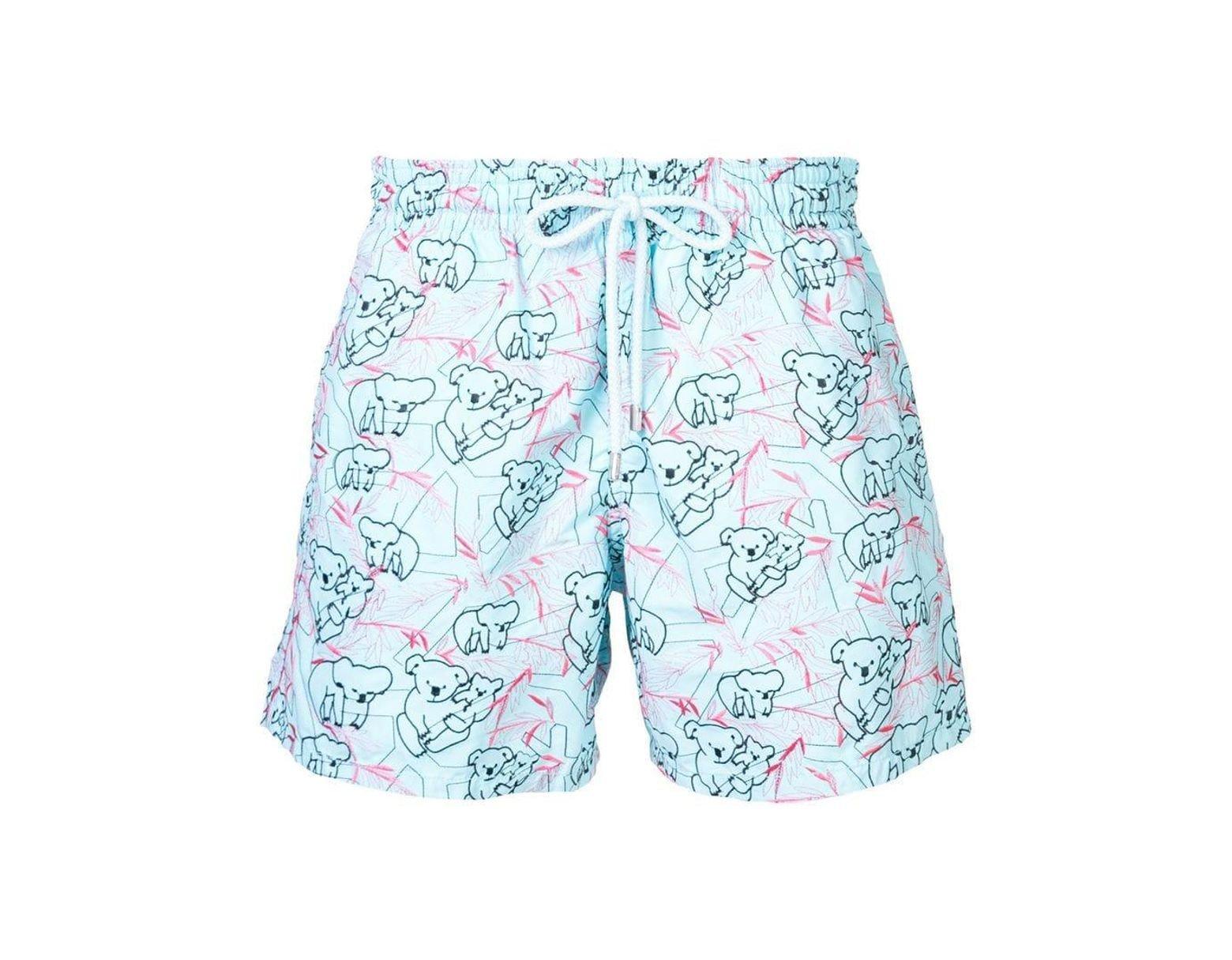 56cf938334 Vilebrequin Koala Pattern Swim Shorts in Blue for Men - Lyst