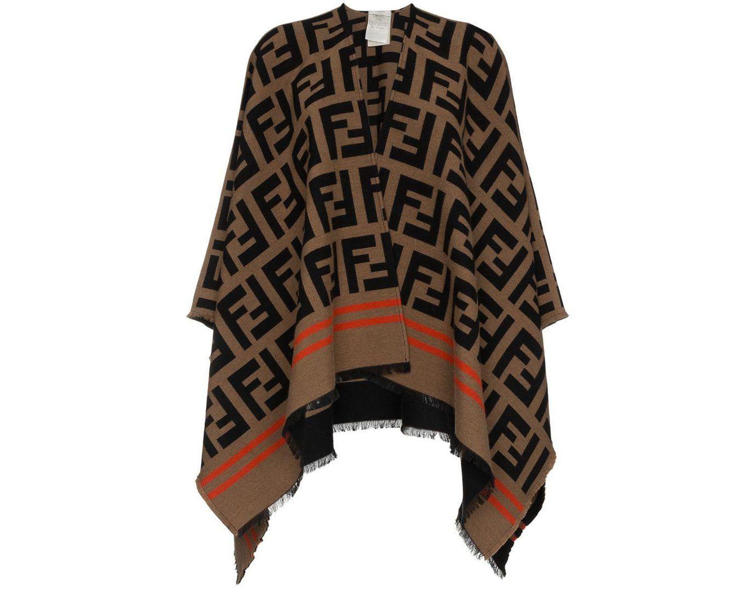 dfad73b0ea Fendi Ff Logo Shawl in Brown - Save 4% - Lyst
