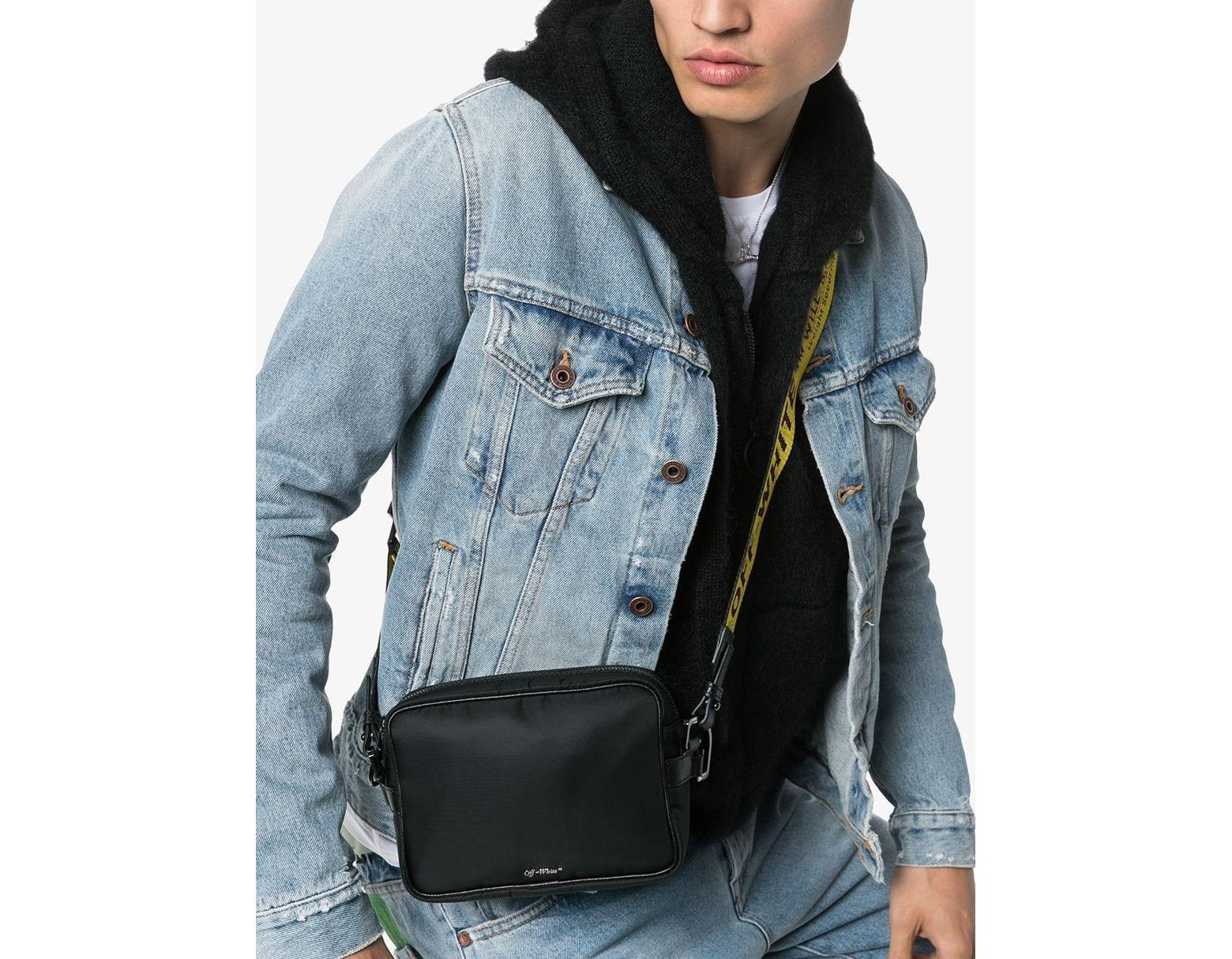 628a9e220 Off-White c/o Virgil Abloh Industrial Logo Cross Body Bag in Black for Men  - Lyst