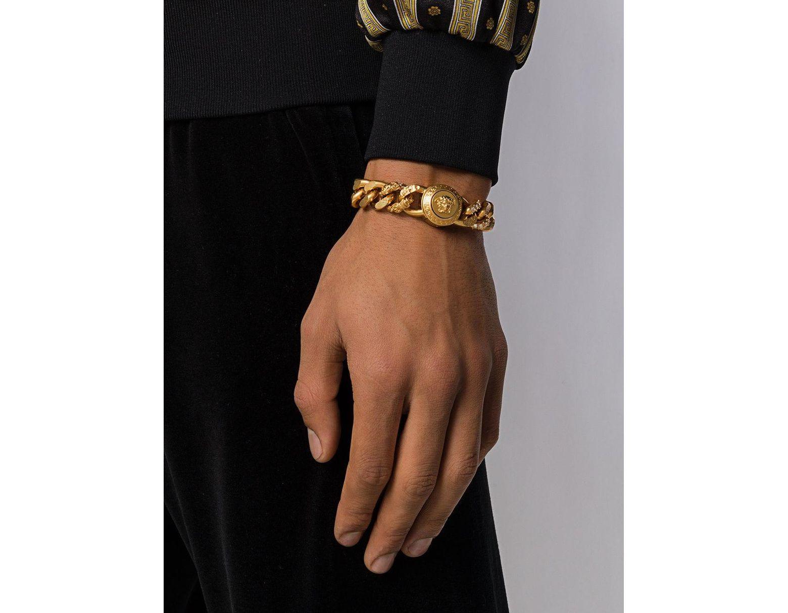 9554c875fb08 Pulsera de cadena Medusa Versace de hombre de color Metálico - Lyst