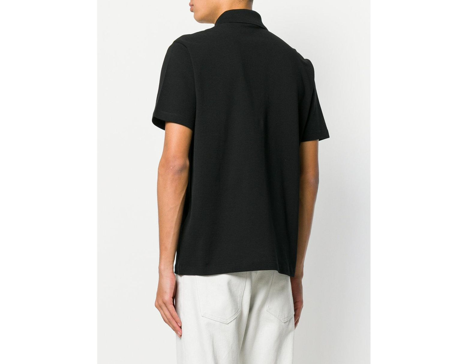 d0c9aa68 Versace Embroidered Medusa Polo Shirt in Black for Men - Lyst