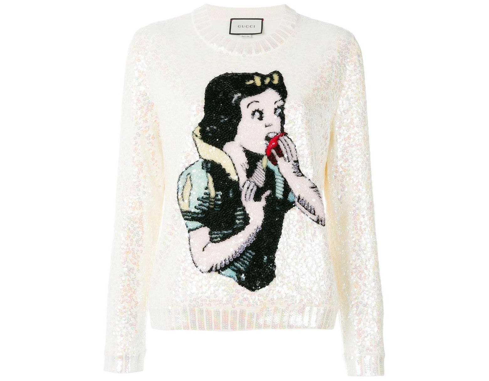 9406ef8b99c Gucci Snow White Knit Sweater in White - Lyst