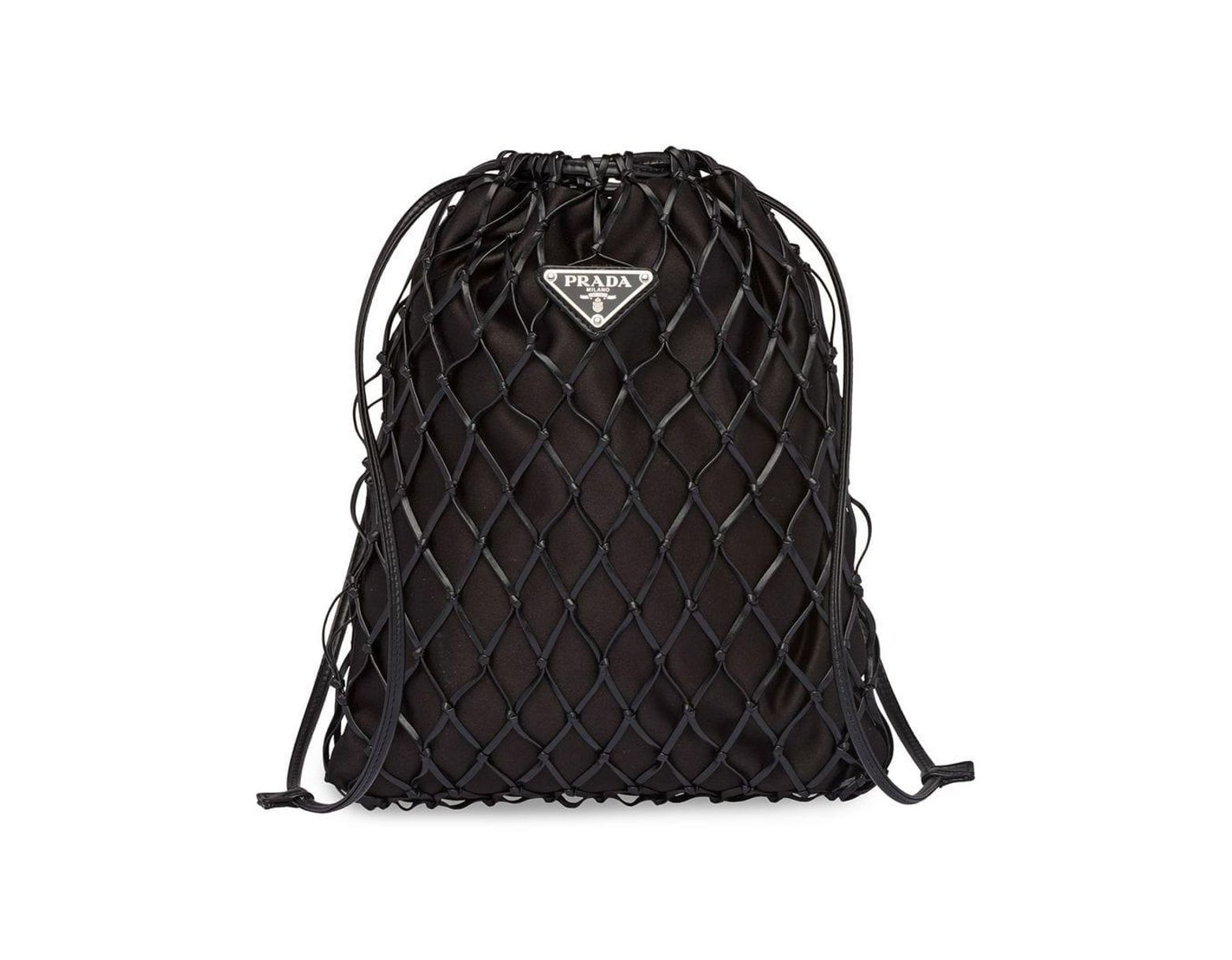 a17cf974c0f29f Prada Net Crossbody Bag in Black - Lyst