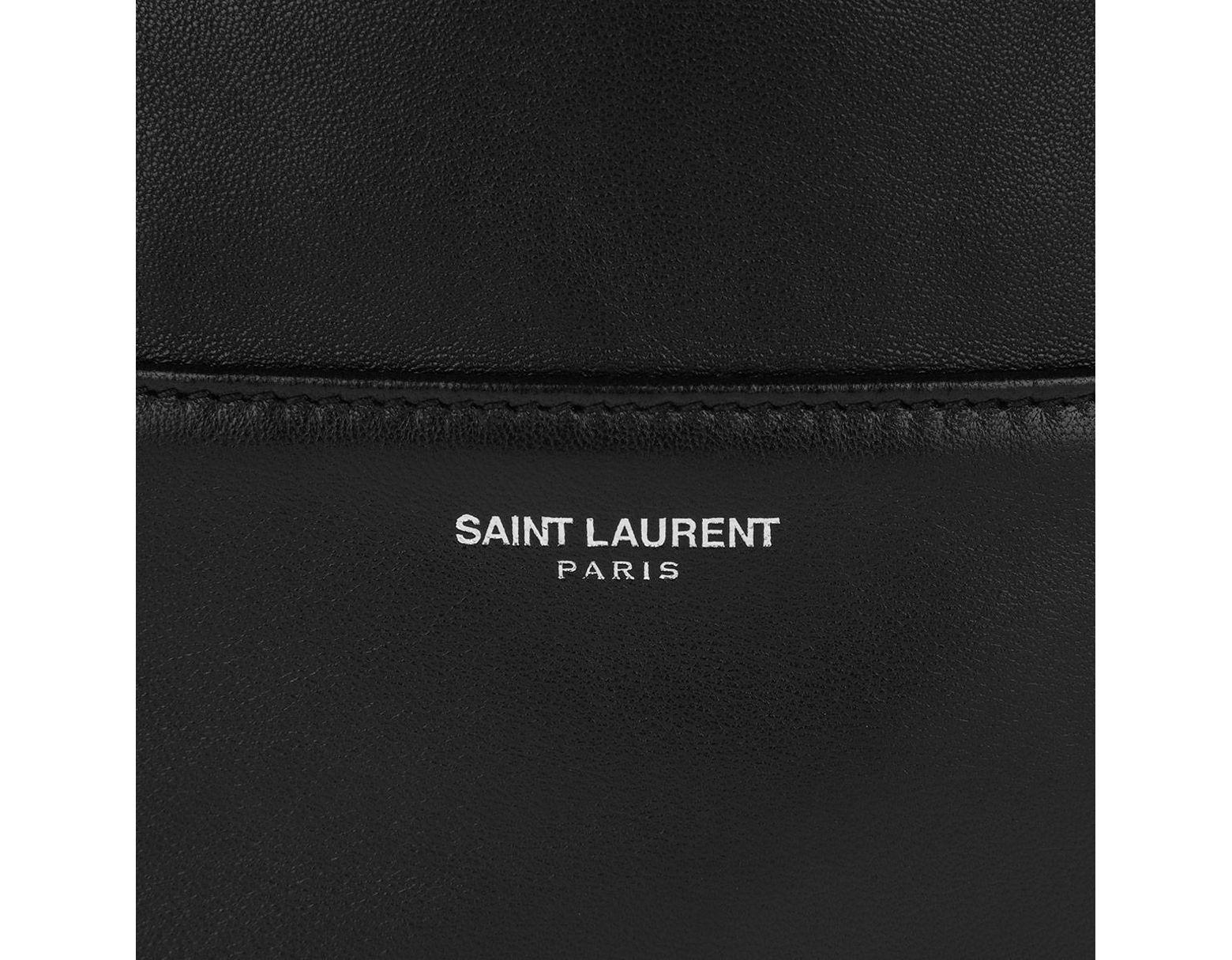 7f65824c5 Saint Laurent Harlem Shopping Bag Lambskin Black in Black - Save 1% - Lyst