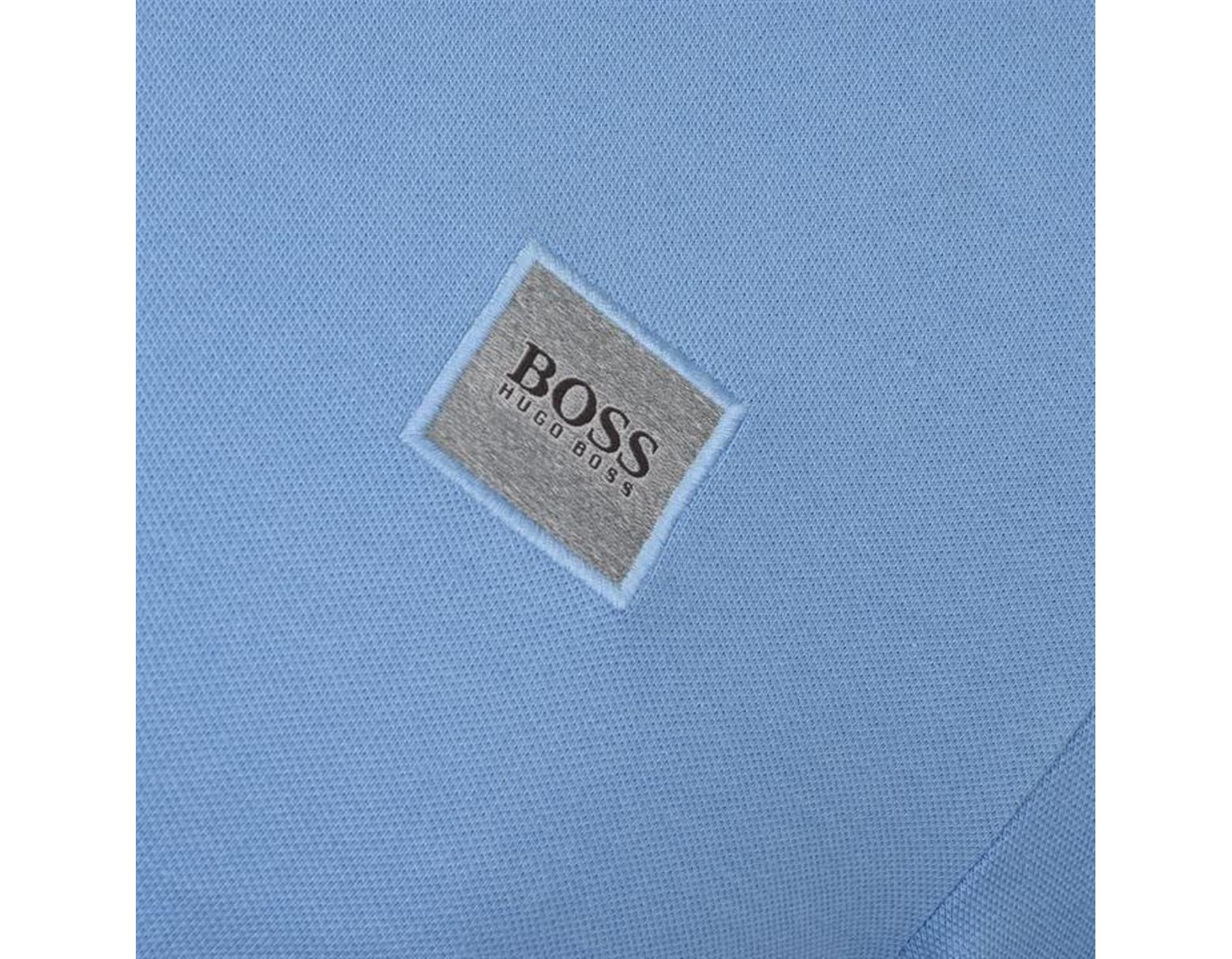 9f2a0bb6 BOSS by Hugo Boss Passerby Long Sleeve Polo Shirt in Blue for Men - Lyst