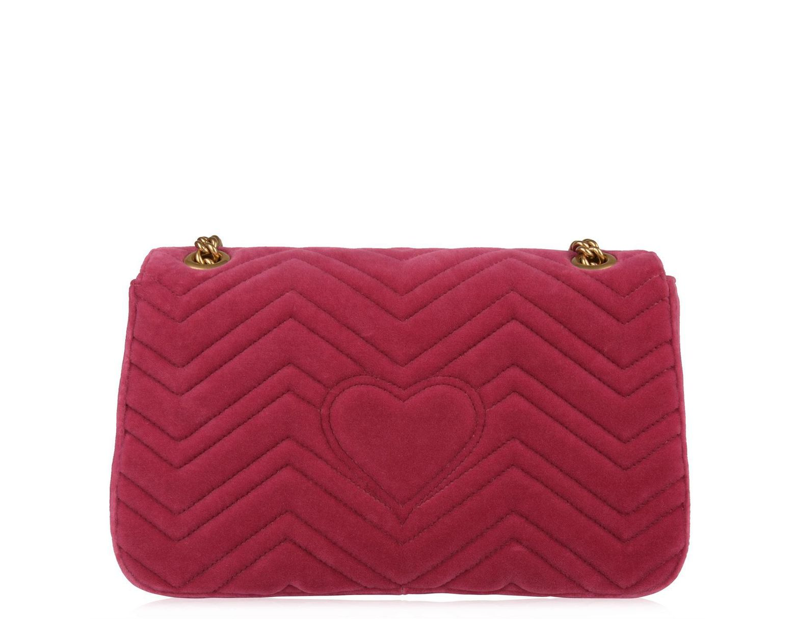ea17b14fe25 Gucci Blind For Love Marmont Shoulder Bag in Pink - Lyst