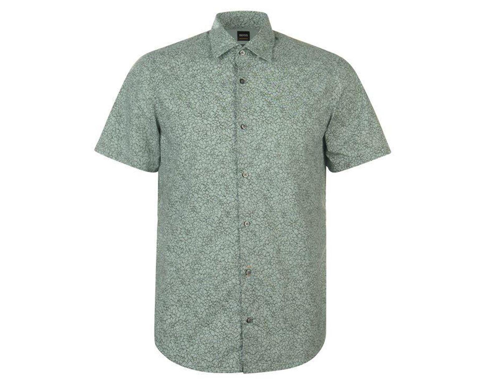 b5c62a649 BOSS by Hugo Boss Boss Rash Floral Shirt in Green for Men - Lyst
