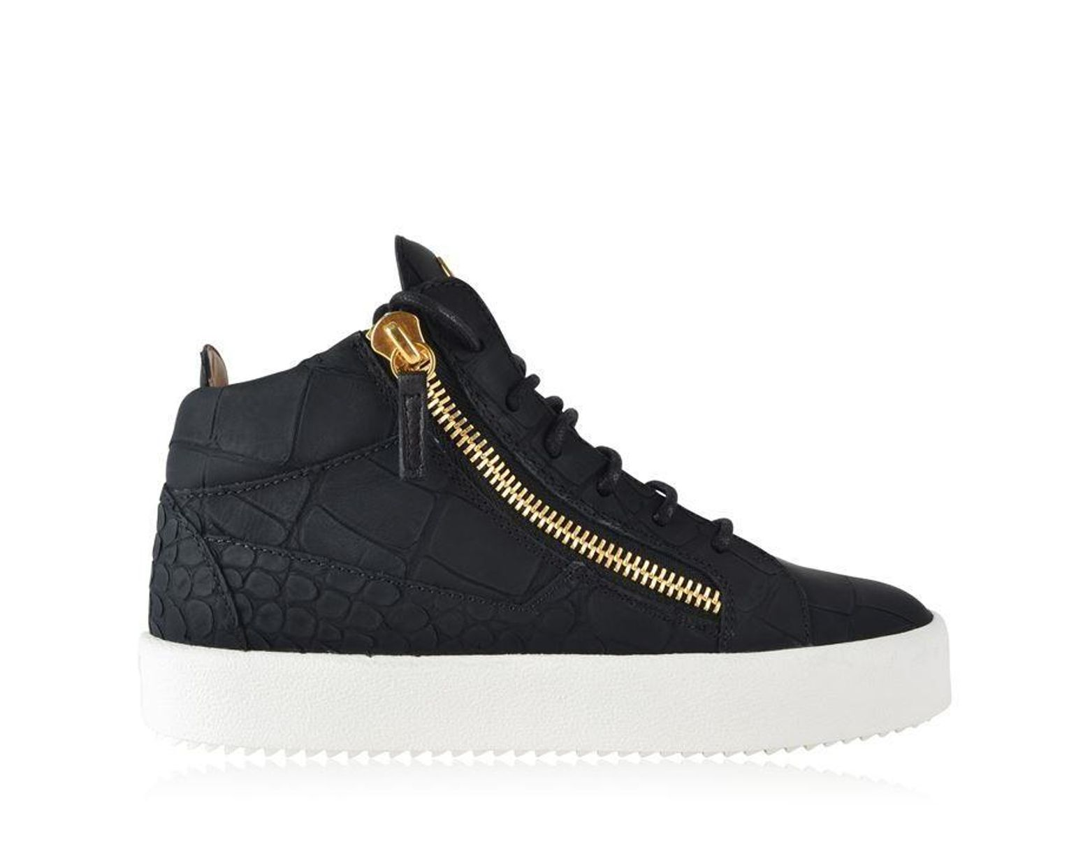 853698ee41ae1 Giuseppe Zanotti Croc Python Embossed May Trainers in Black - Lyst