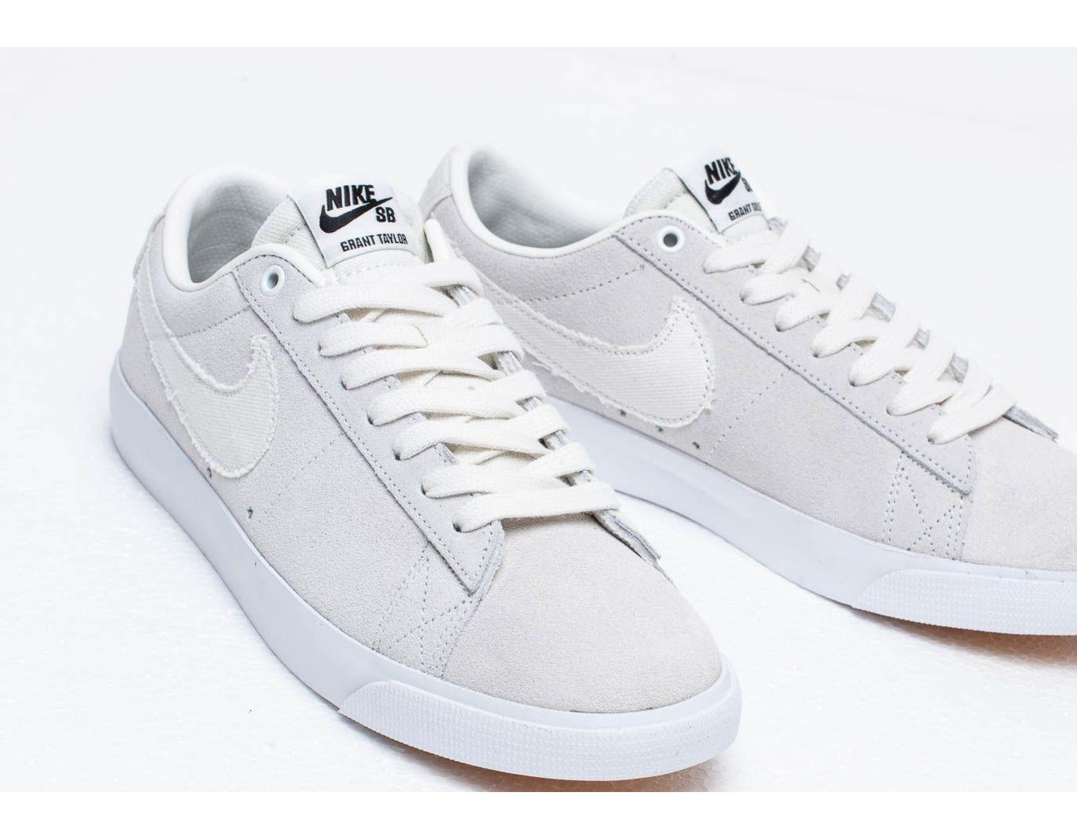 new products 7c434 bfcd0 Nike Sb Zoom Blazer Low Gt Summit White  Summit White-obsidian in White for  Men - Save 9% - Lyst