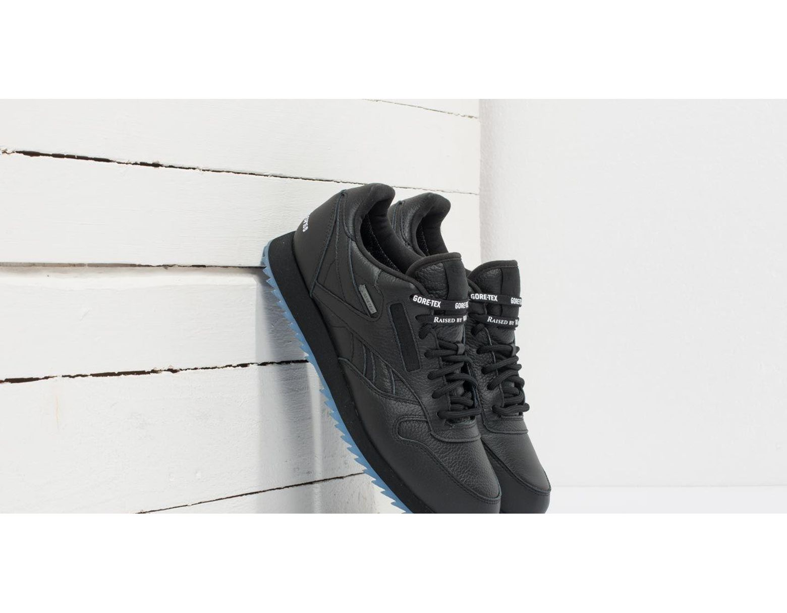 4cd98d5a9d93e Lyst - Reebok Reebok X Raised By Wolves Classic Leather Ripple Gore-tex  Black  White-ice in Black - Save 44%