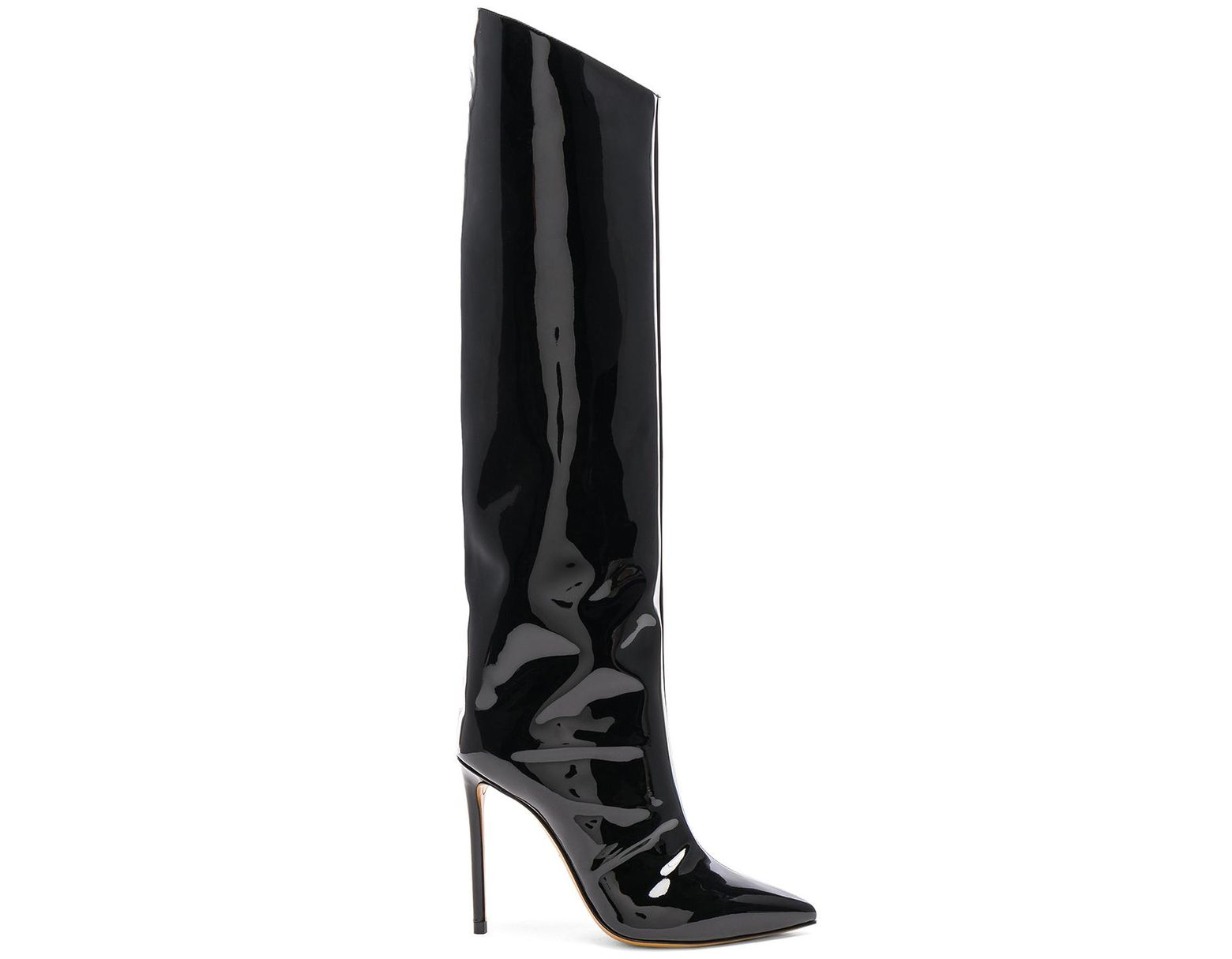 636eee56200 Alexandre Vauthier Alex Patent Leather Knee-high Boots in Black - Lyst