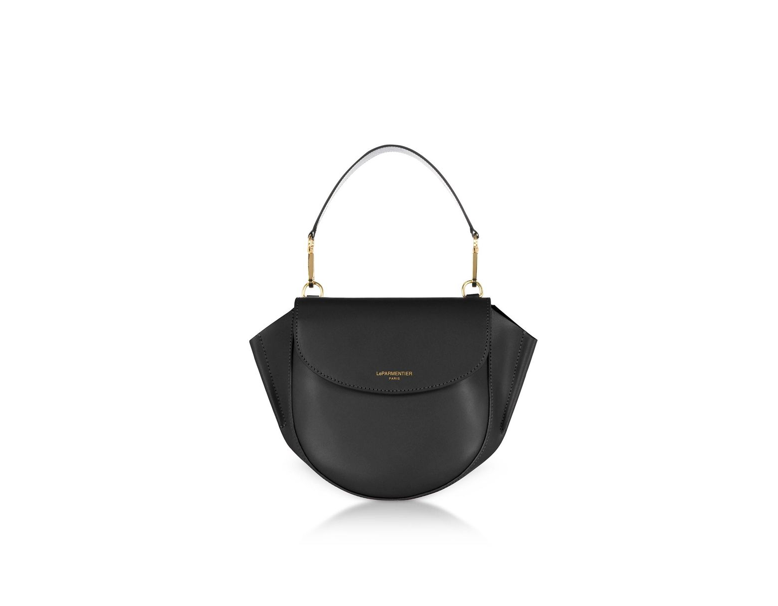 6a2528f9cd Le Parmentier Astorya Leather Mini Bag W/shoulder Strap in Black - Lyst