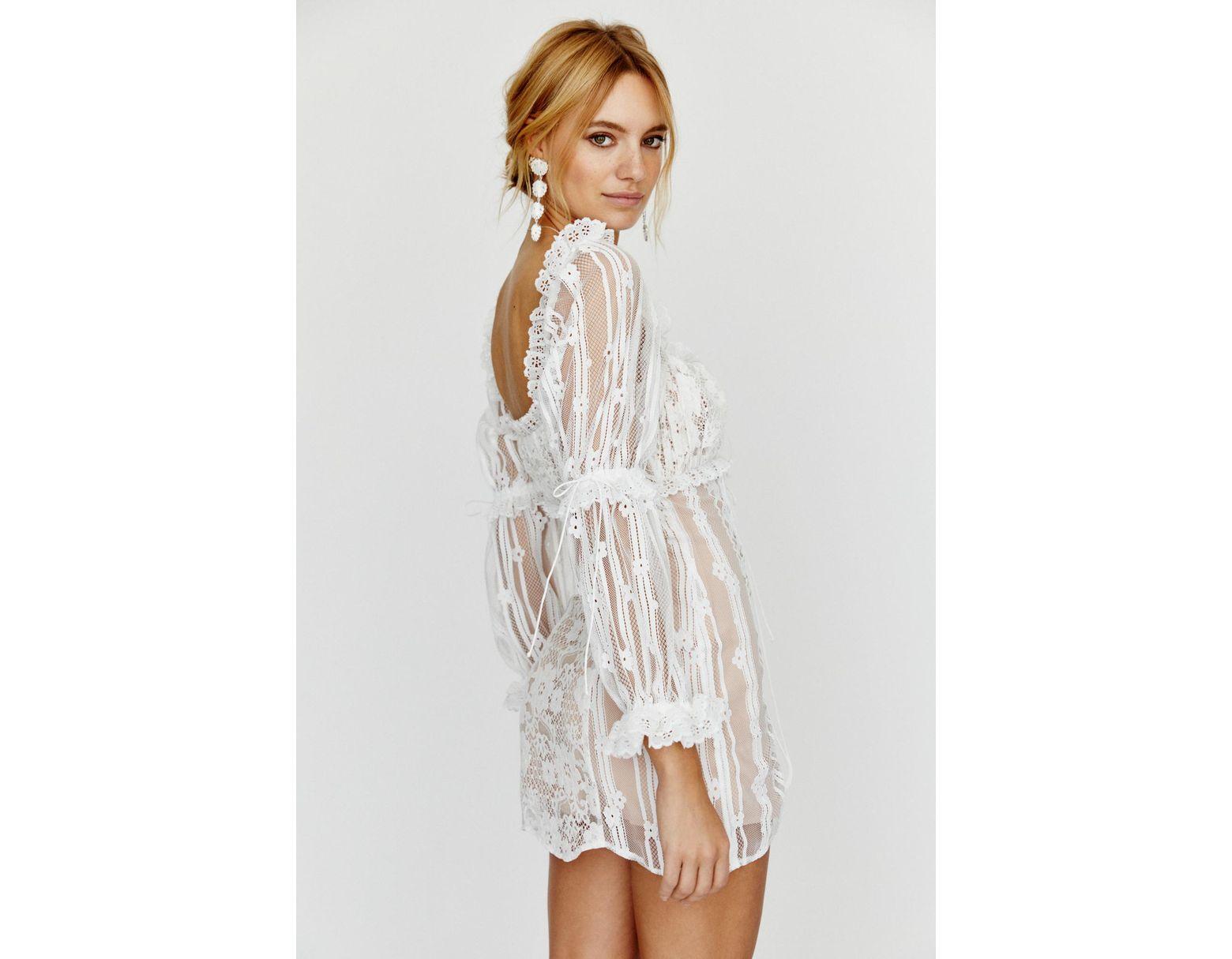 70439c2d0448 Free People Monroe Mini Dress By For Love & Lemons in White - Lyst