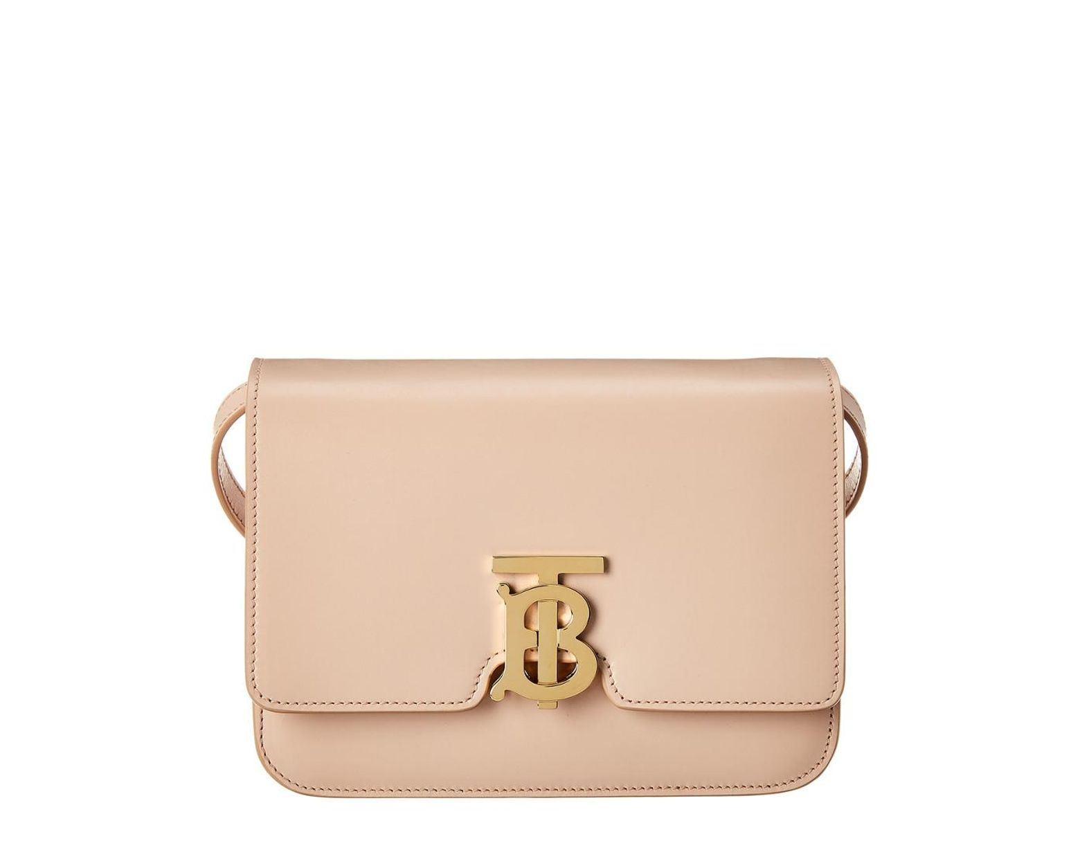 3b123f8dcb Burberry Small Tb Leather Shoulder Bag in Natural - Lyst
