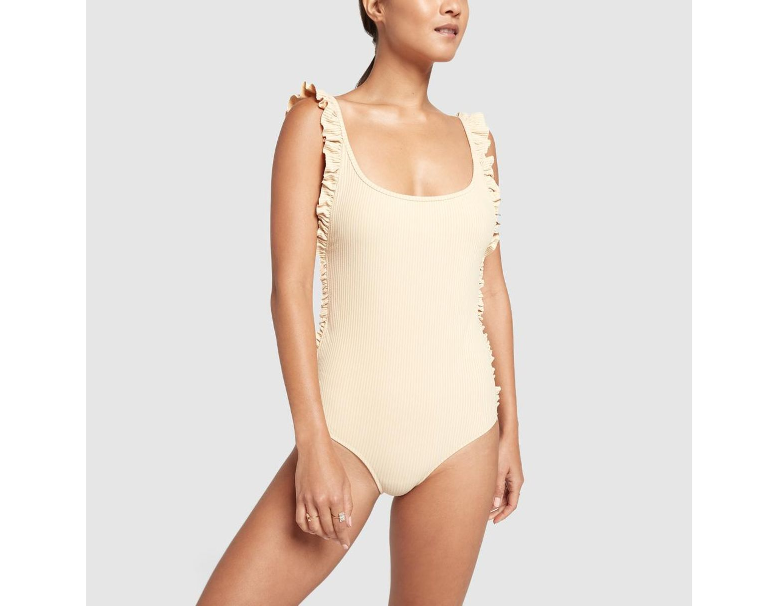 0223e77695 Made By Dawn Ruffle Petal One-piece Swimsuit - Lyst