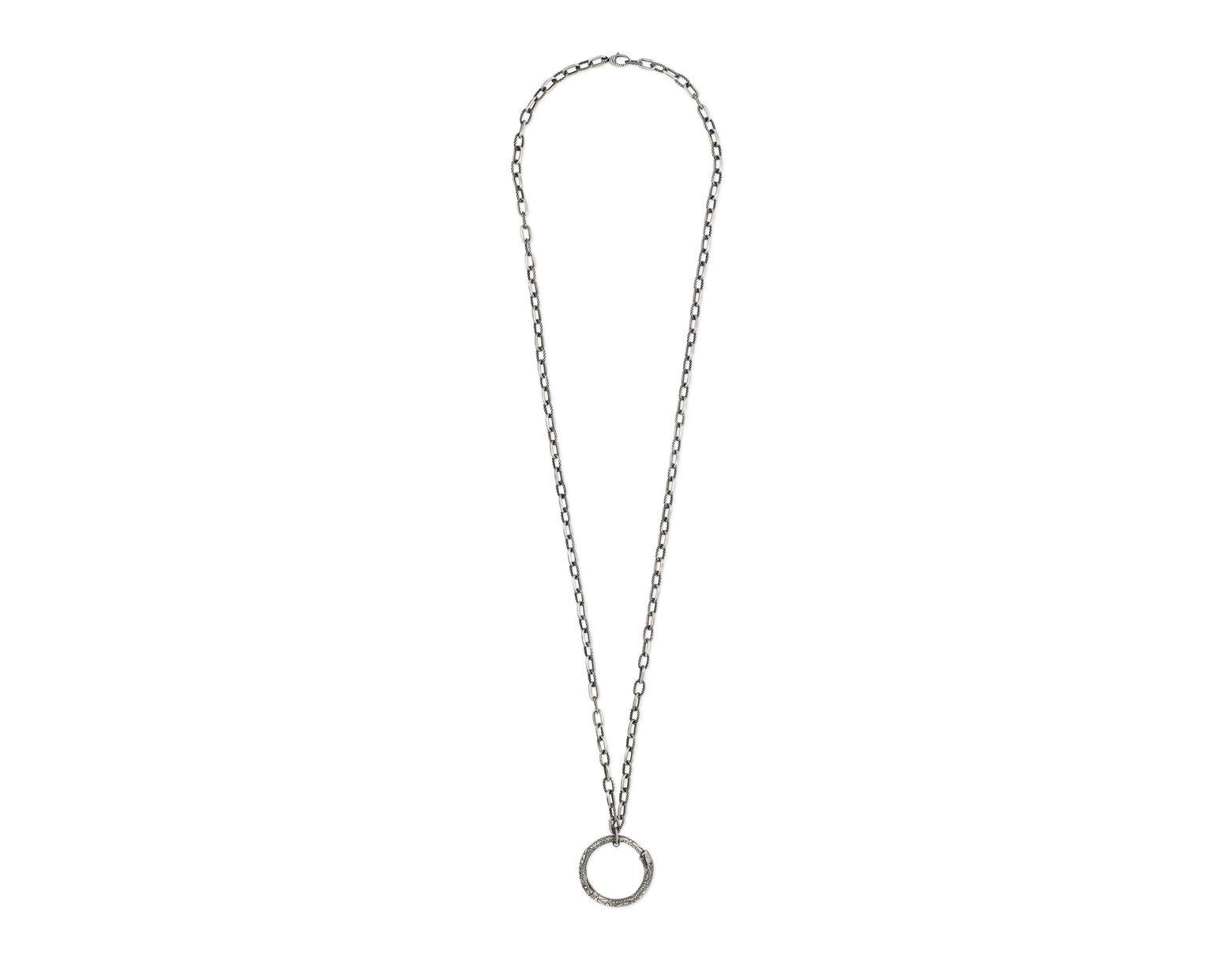 cfb7b62a3863 Collar con Colgante de Uróboros Gucci de color Metálico - Lyst