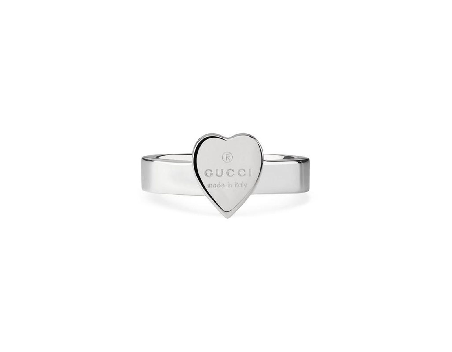 d3d4d249279790 Gucci Heart Ring With Trademark in Metallic - Save 5% - Lyst