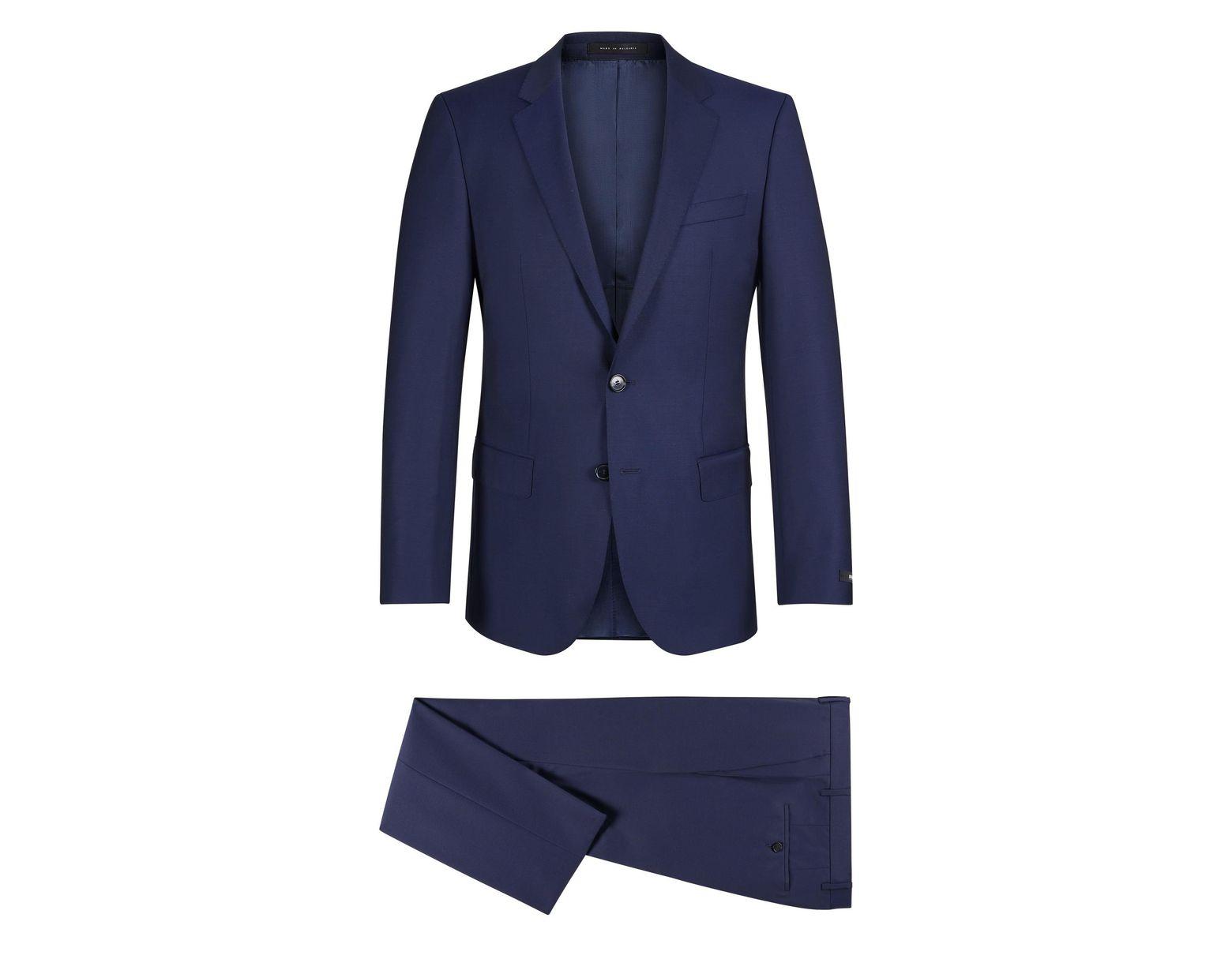 4640967c1 BOSS Italian Super 110 Virgin Wool Suit, Slim Fit | Huge/genius in Blue for  Men - Lyst