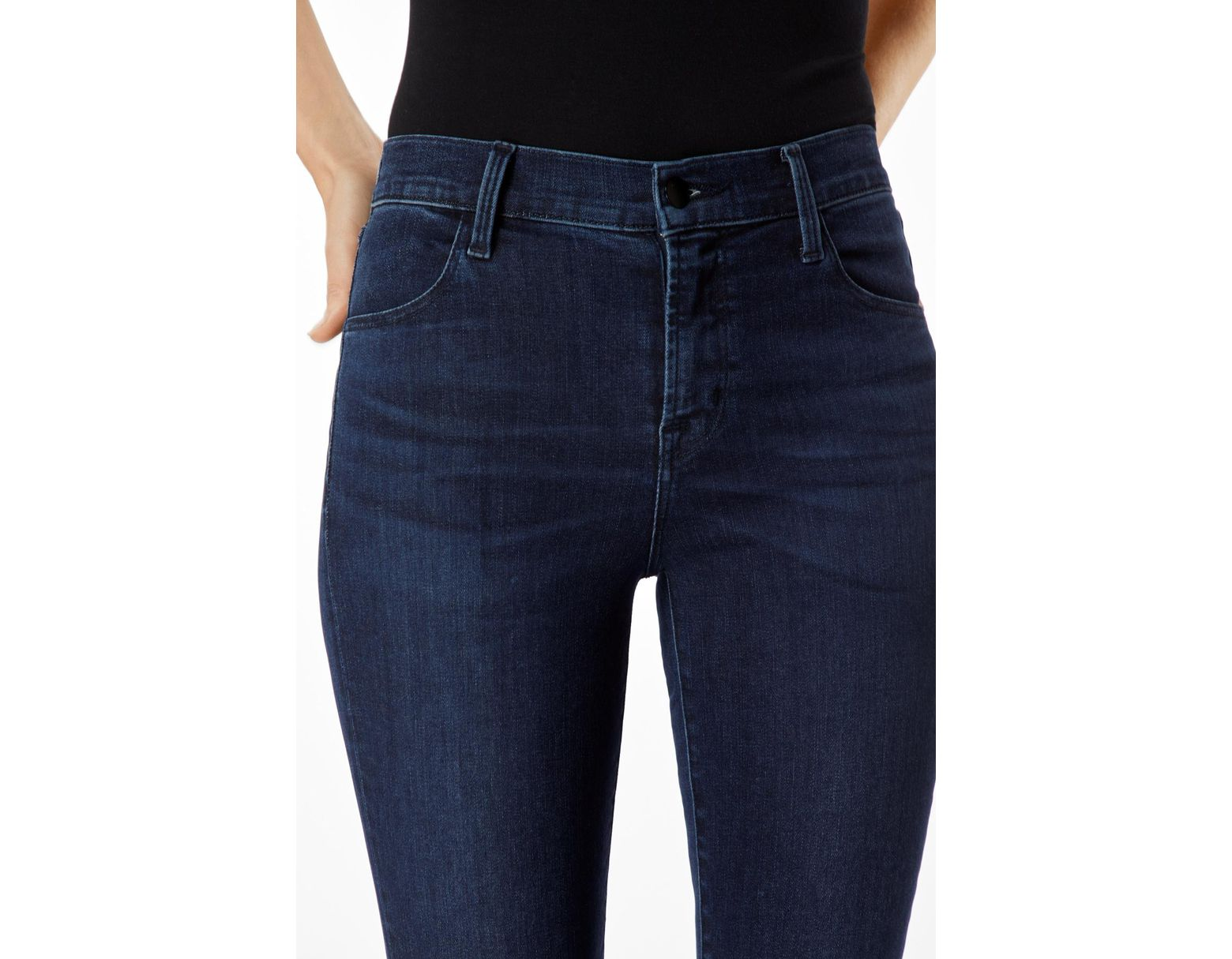 d4653cefa35a J Brand Alana High-rise Cropped Super Skinny In Photo Ready Hd Phased in  Blue - Lyst