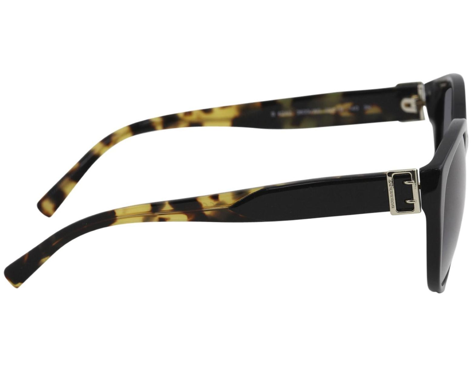 e4e29db50 Burberry Be4242 Be/4242 3633/8g Fashion Round Sunglasses 55mm in Black -  Lyst