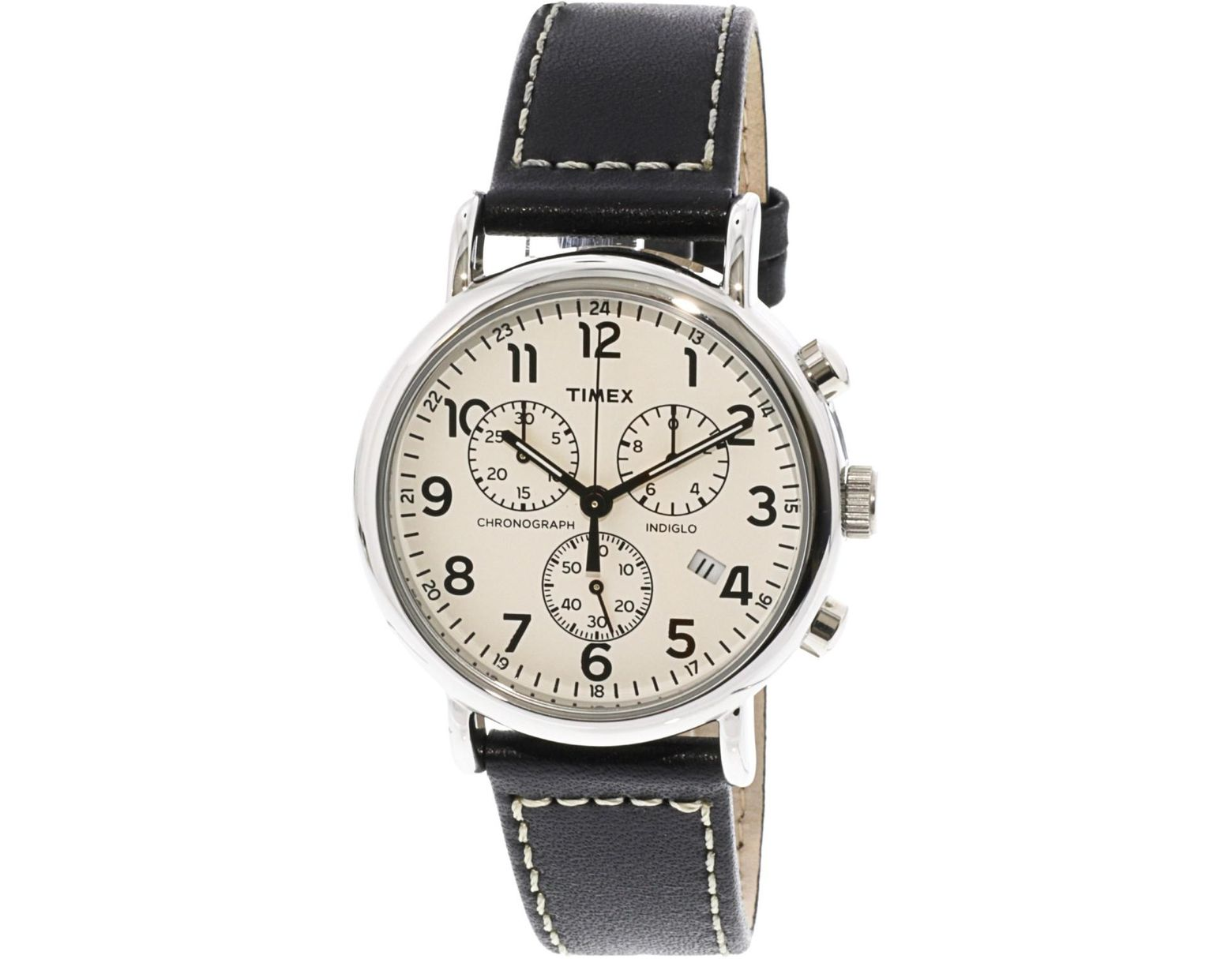 fbfe44f7e Lyst - Timex Weekender Tw2r42800 Leather Analog Quartz Fashion Watch in  Metallic for Men - Save 2%