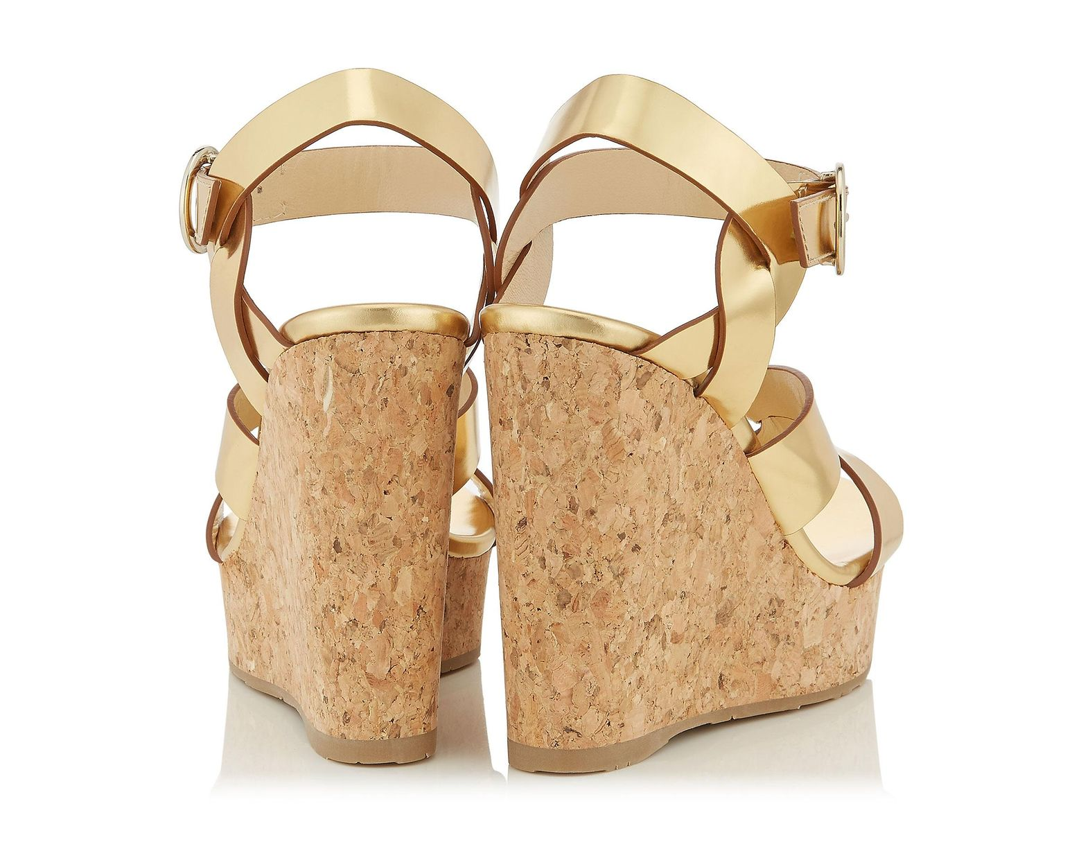 88a6c97a79 Jimmy Choo Aleili 120 Sandals in Metallic - Lyst
