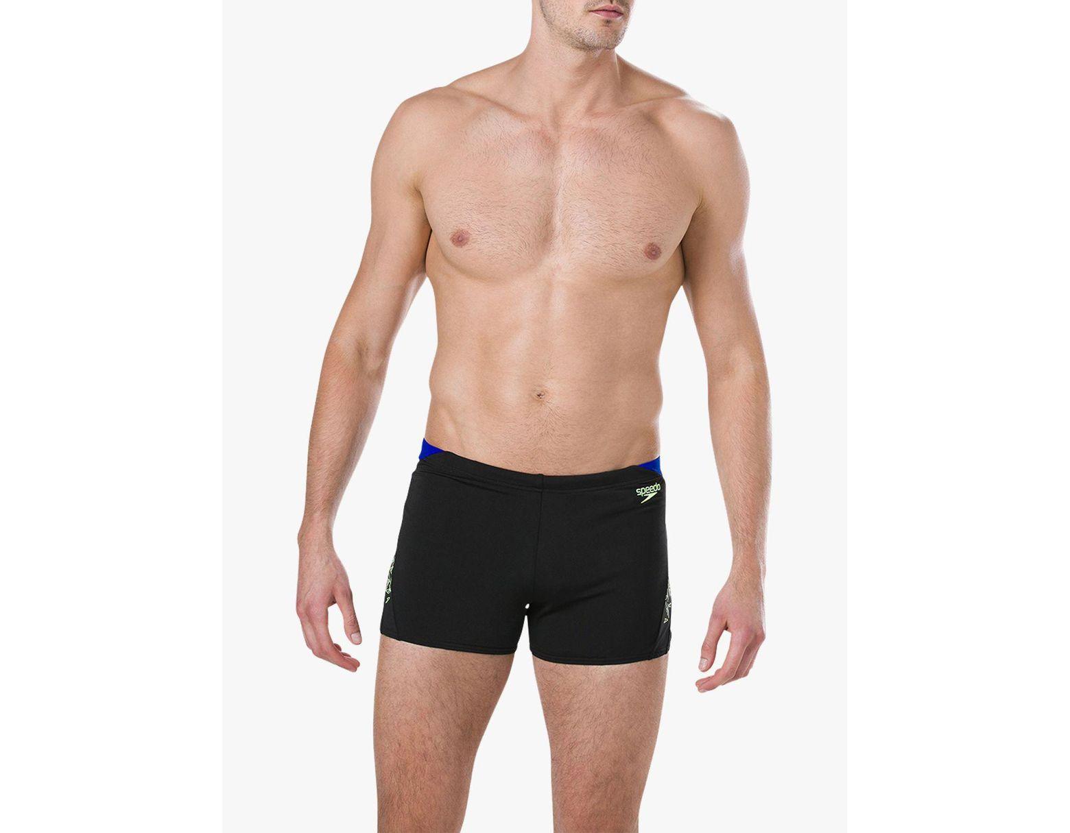 d8ca4557ad5d Speedo Boom Splice Aquashort Swim Shorts in Black for Men - Lyst