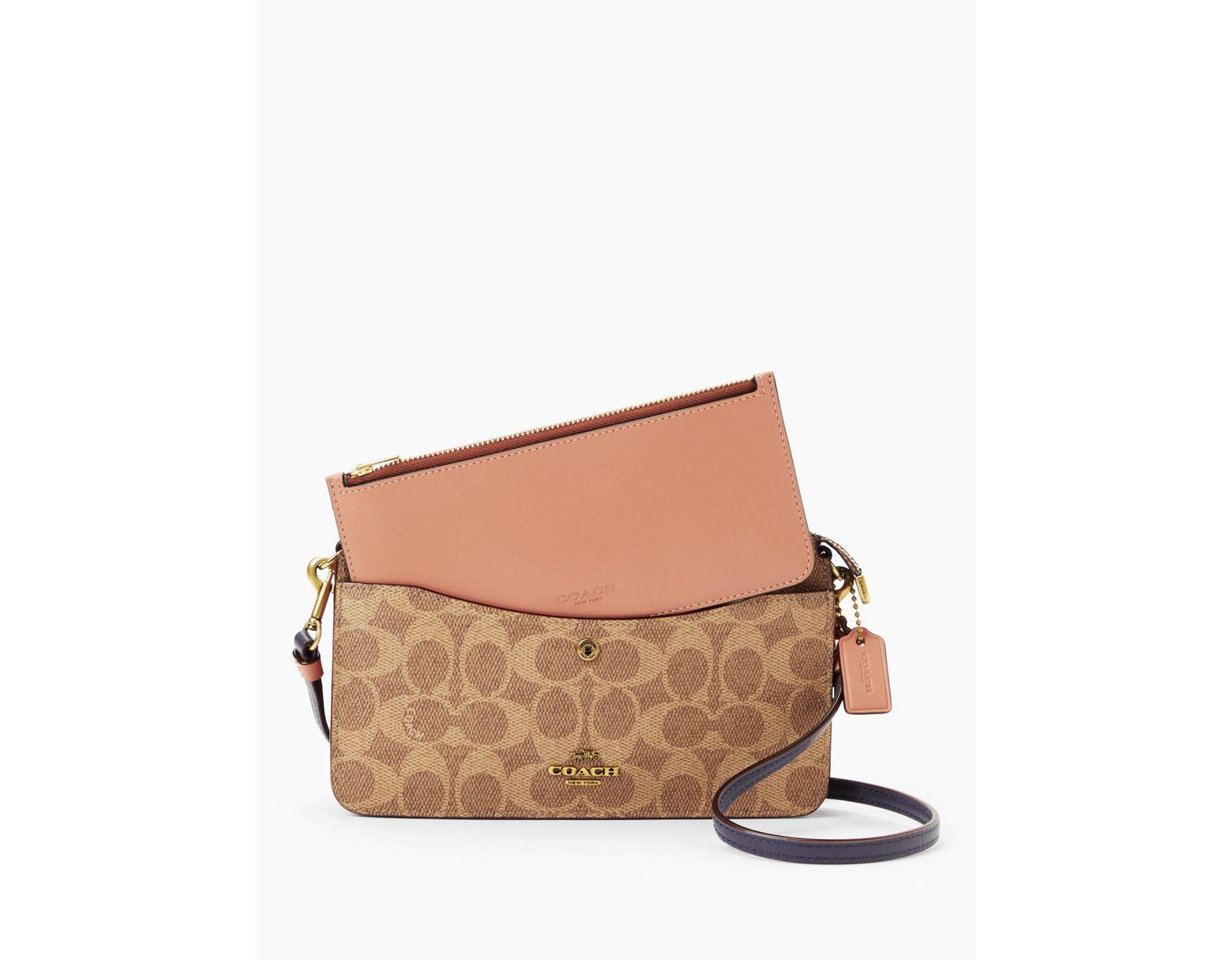 6f15f509f1c COACH Noa Signature Cross Body Bag in Brown - Lyst
