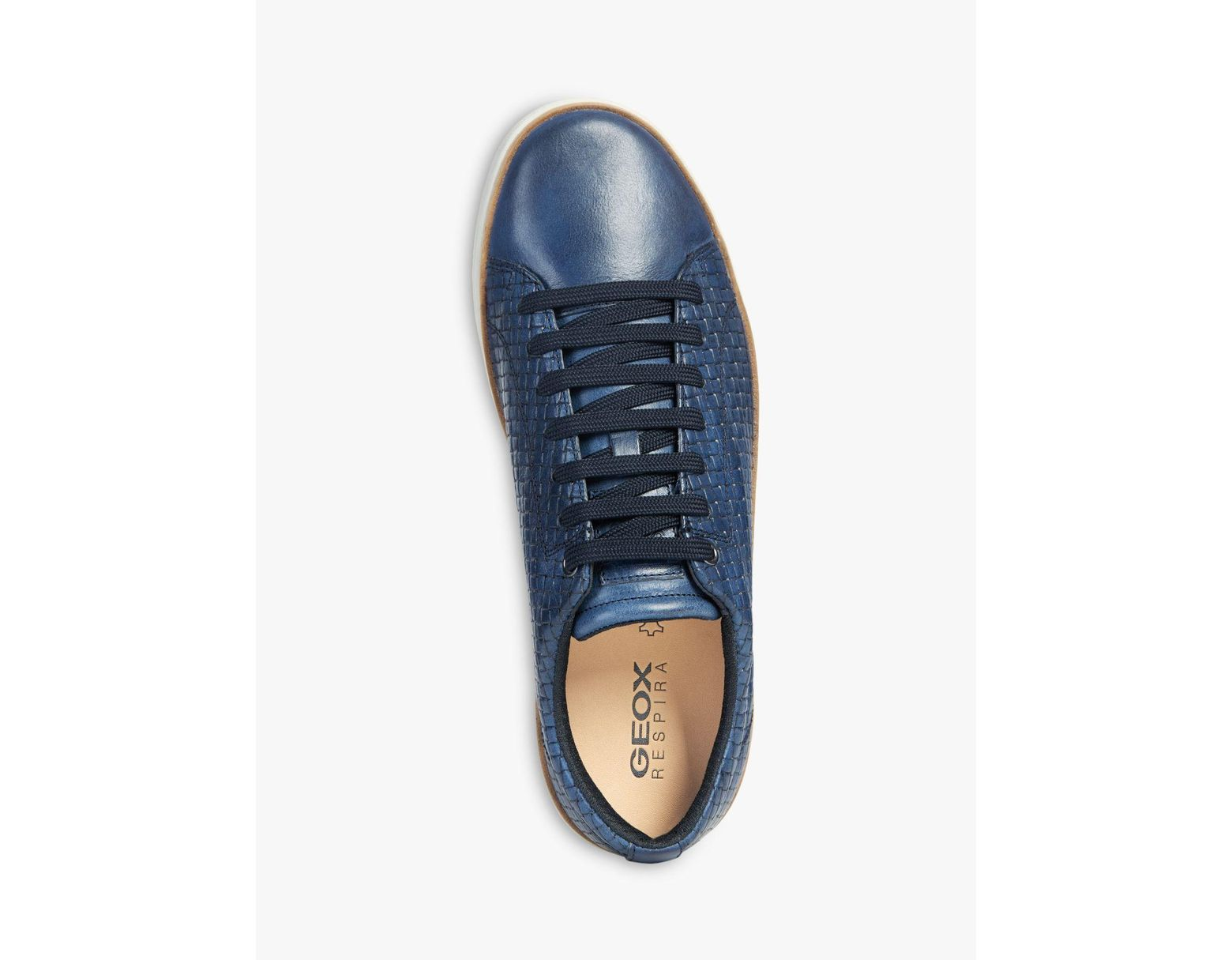 d425f008e0b Geox Ariam Tile Leather Trainers in Blue for Men - Lyst