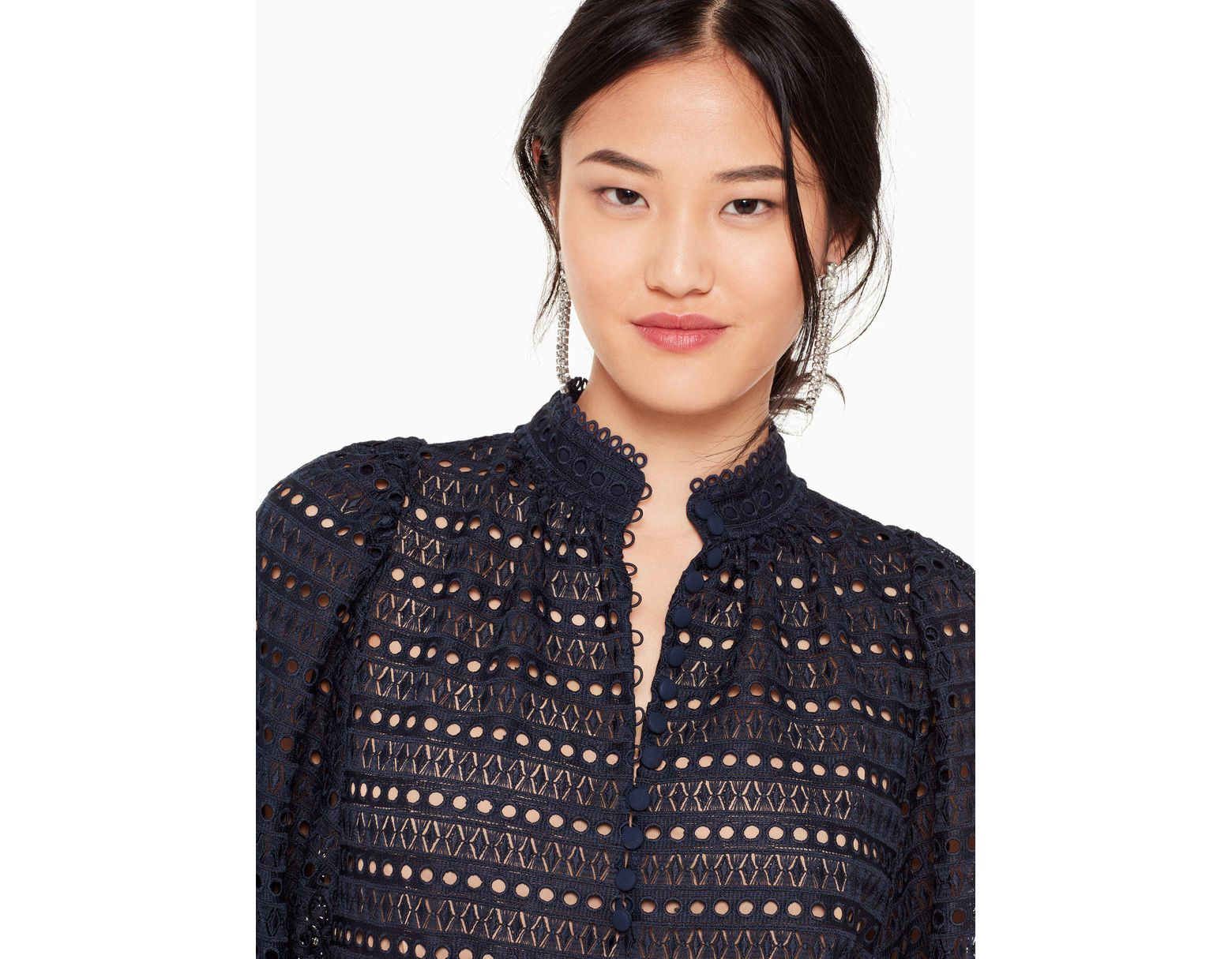 ad52bebf67 Kate Spade Lace Cris Top in Blue - Save 25% - Lyst