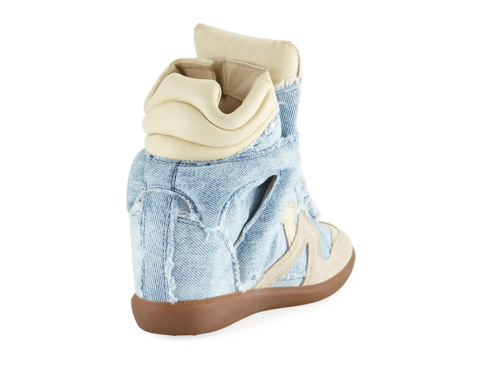 1086c1d6f8 Isabel Marant Bekett Denim Wedge High-top Sneakers in Blue - Save 69% - Lyst