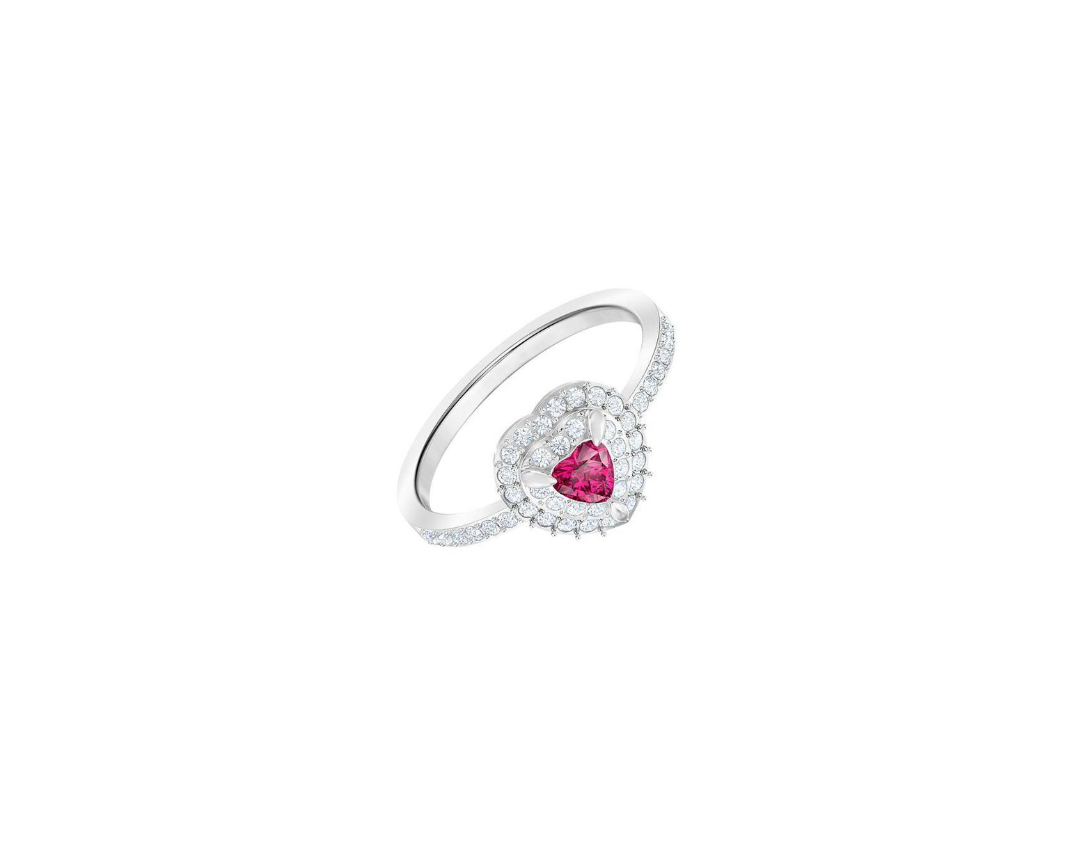 60132447e Swarovski One Red Crystal Ring in Metallic - Lyst
